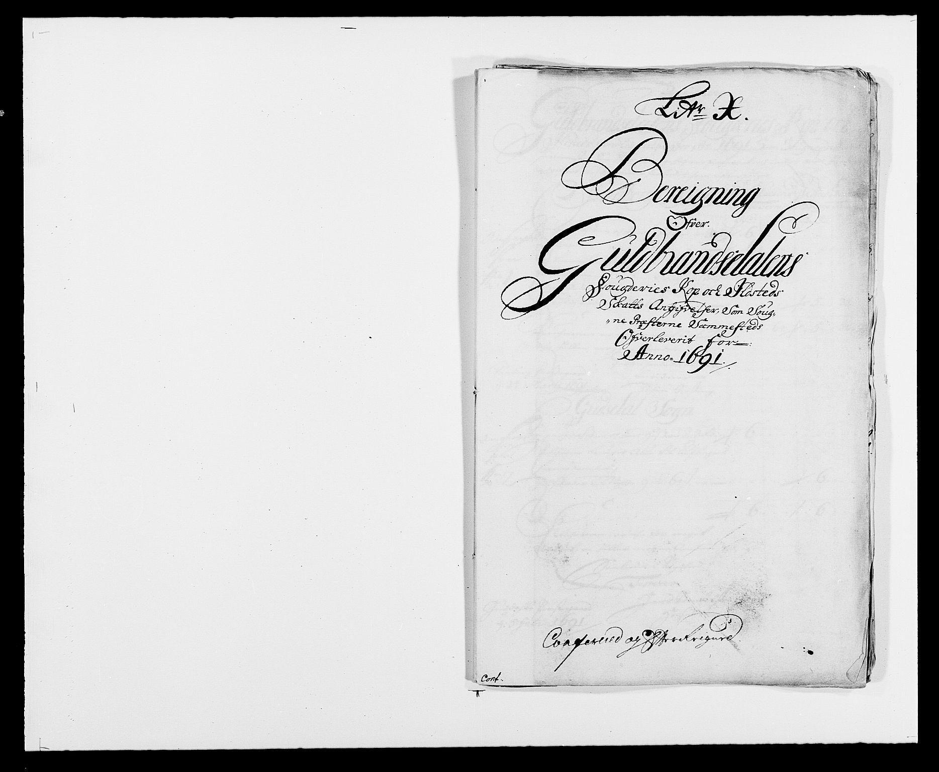 RA, Rentekammeret inntil 1814, Reviderte regnskaper, Fogderegnskap, R17/L1165: Fogderegnskap Gudbrandsdal, 1690-1692, s. 348
