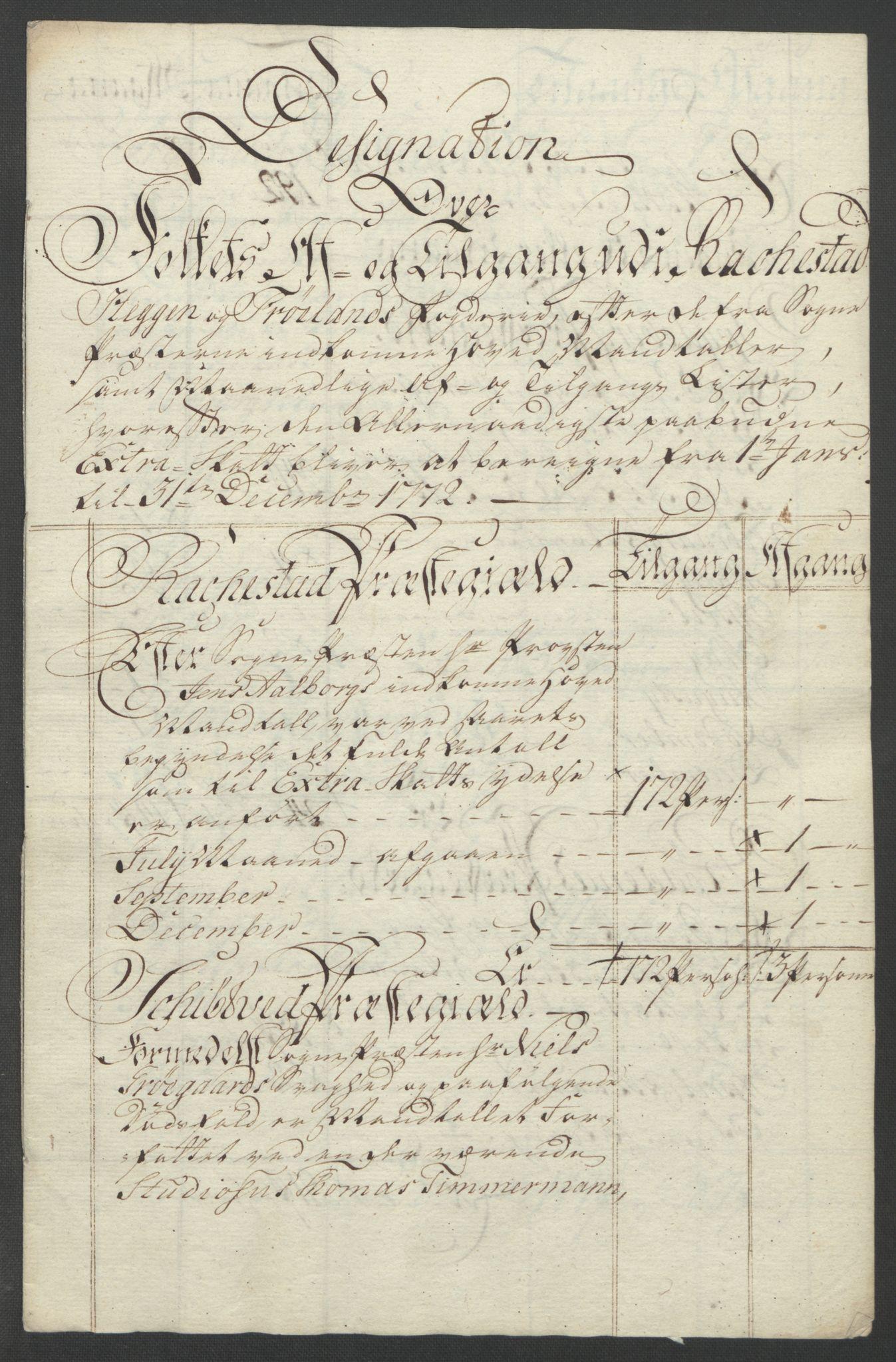 RA, Rentekammeret inntil 1814, Reviderte regnskaper, Fogderegnskap, R07/L0413: Ekstraskatten Rakkestad, Heggen og Frøland, 1762-1772, s. 527