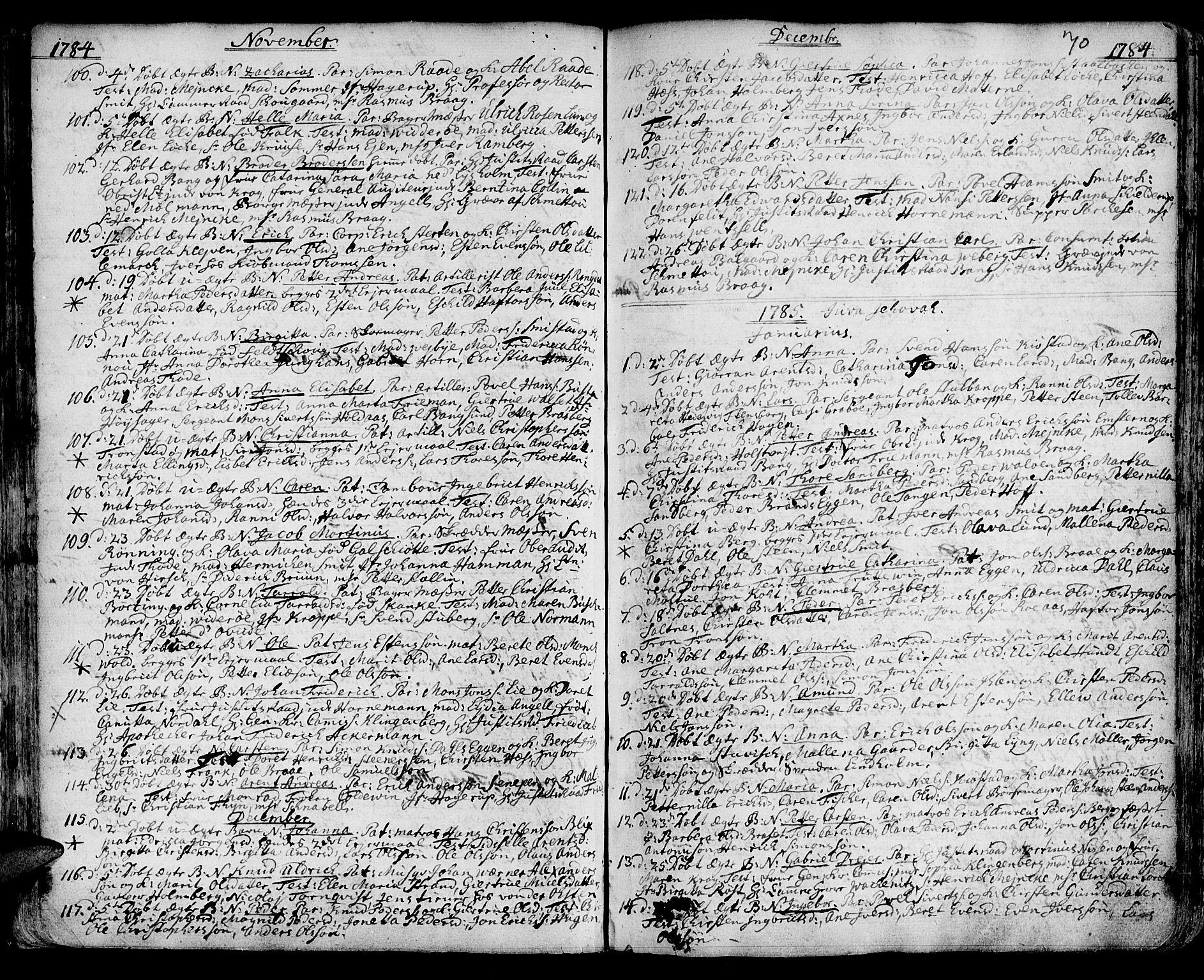 SAT, Ministerialprotokoller, klokkerbøker og fødselsregistre - Sør-Trøndelag, 601/L0039: Ministerialbok nr. 601A07, 1770-1819, s. 70