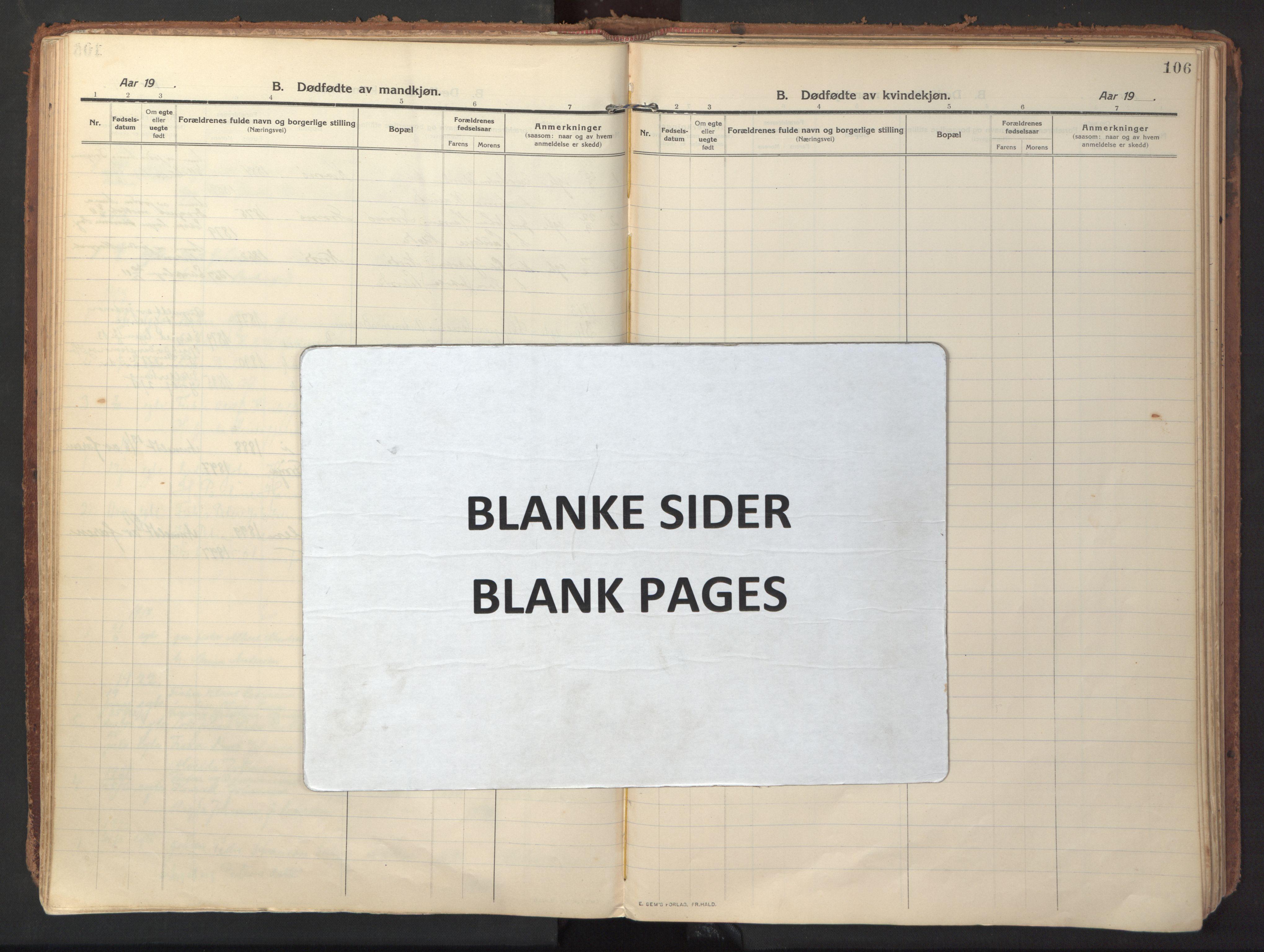 SAT, Ministerialprotokoller, klokkerbøker og fødselsregistre - Sør-Trøndelag, 640/L0581: Ministerialbok nr. 640A06, 1910-1924, s. 106