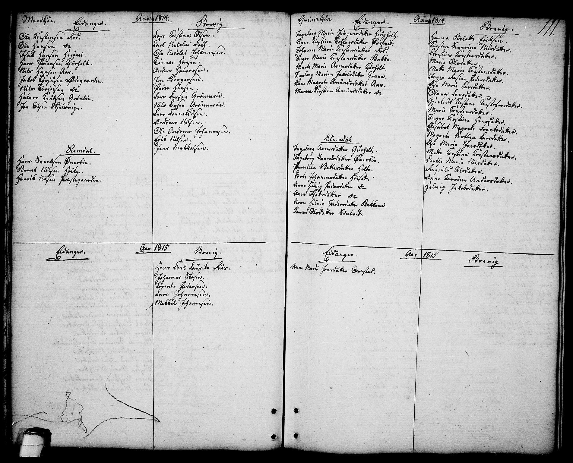 SAKO, Brevik kirkebøker, F/Fa/L0003: Ministerialbok nr. 3, 1764-1814, s. 111