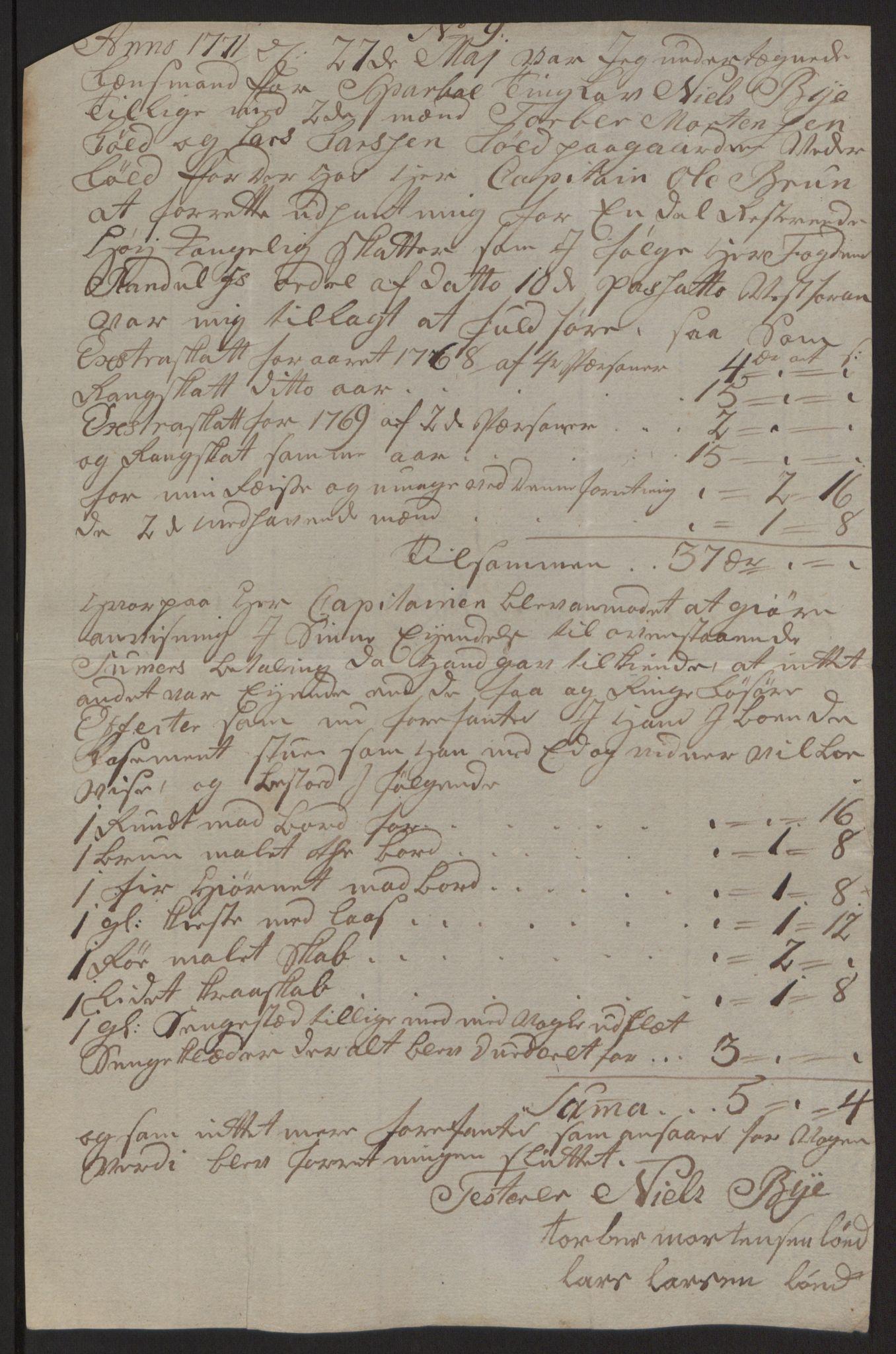 RA, Rentekammeret inntil 1814, Reviderte regnskaper, Fogderegnskap, R63/L4420: Ekstraskatten Inderøy, 1762-1772, s. 406