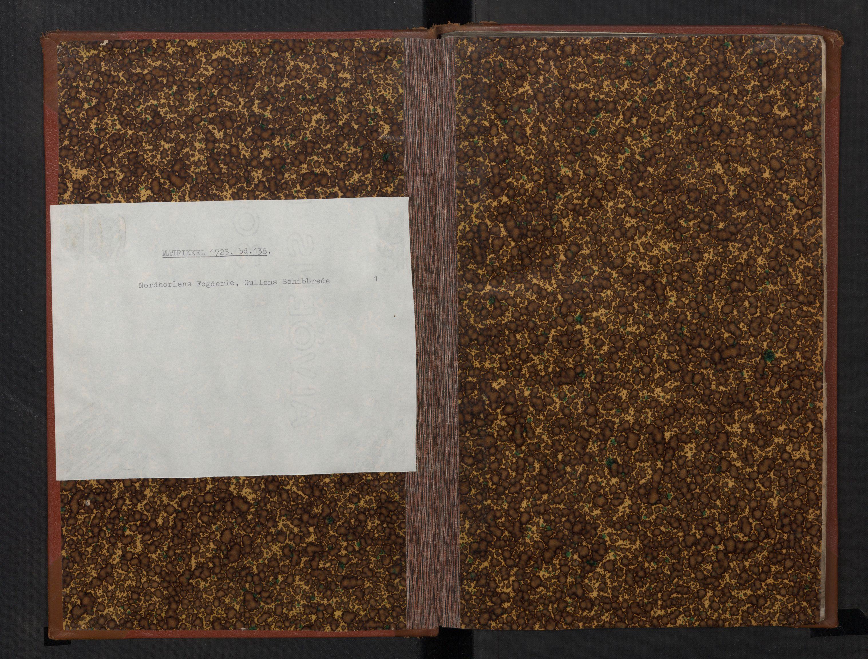 RA, Rentekammeret inntil 1814, Realistisk ordnet avdeling, N/Nb/Nbf/L0138: Gulen skipreide, prøvematrikkel, 1721, s. upaginert