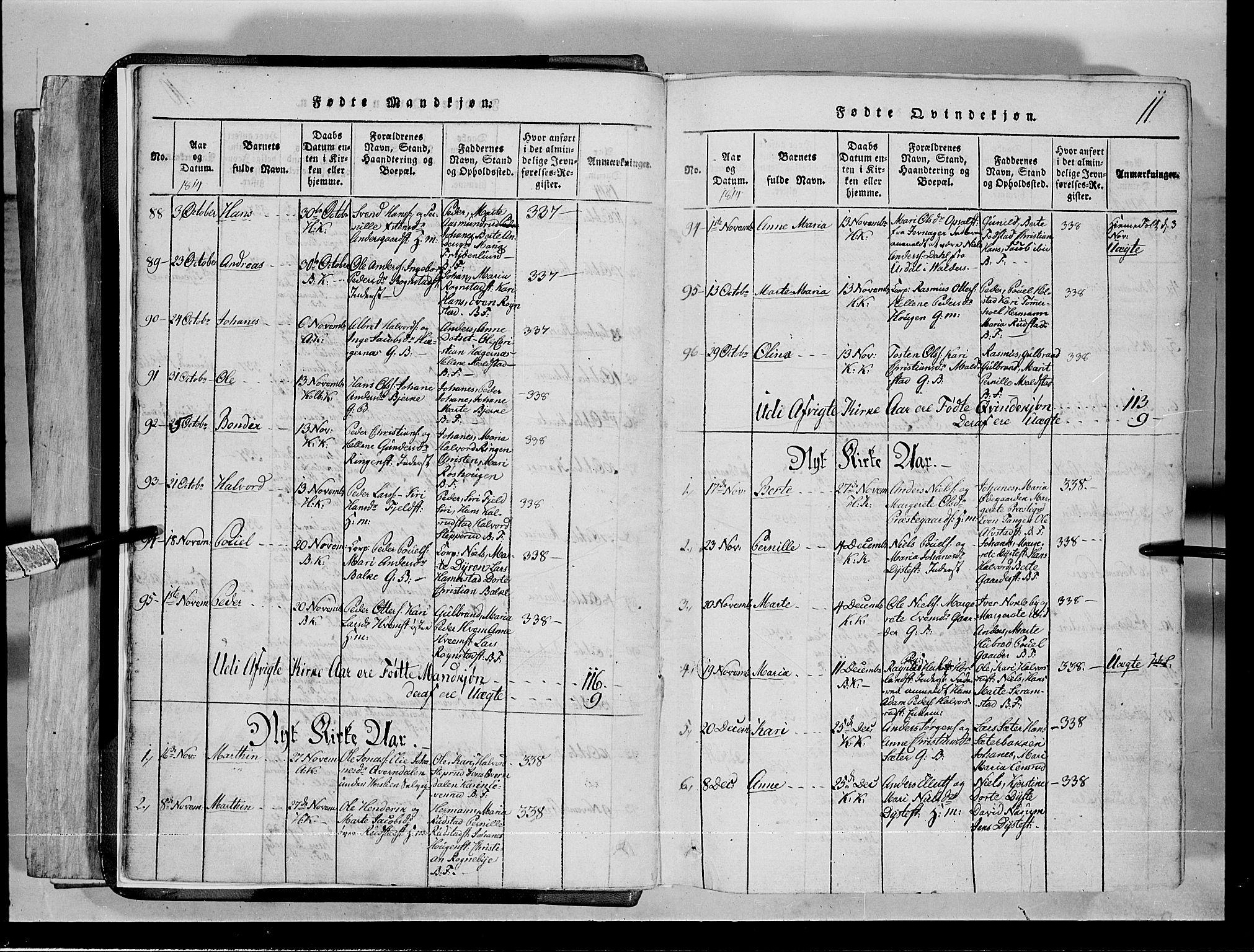 SAH, Toten prestekontor, Klokkerbok nr. 1, 1814-1820, s. 11