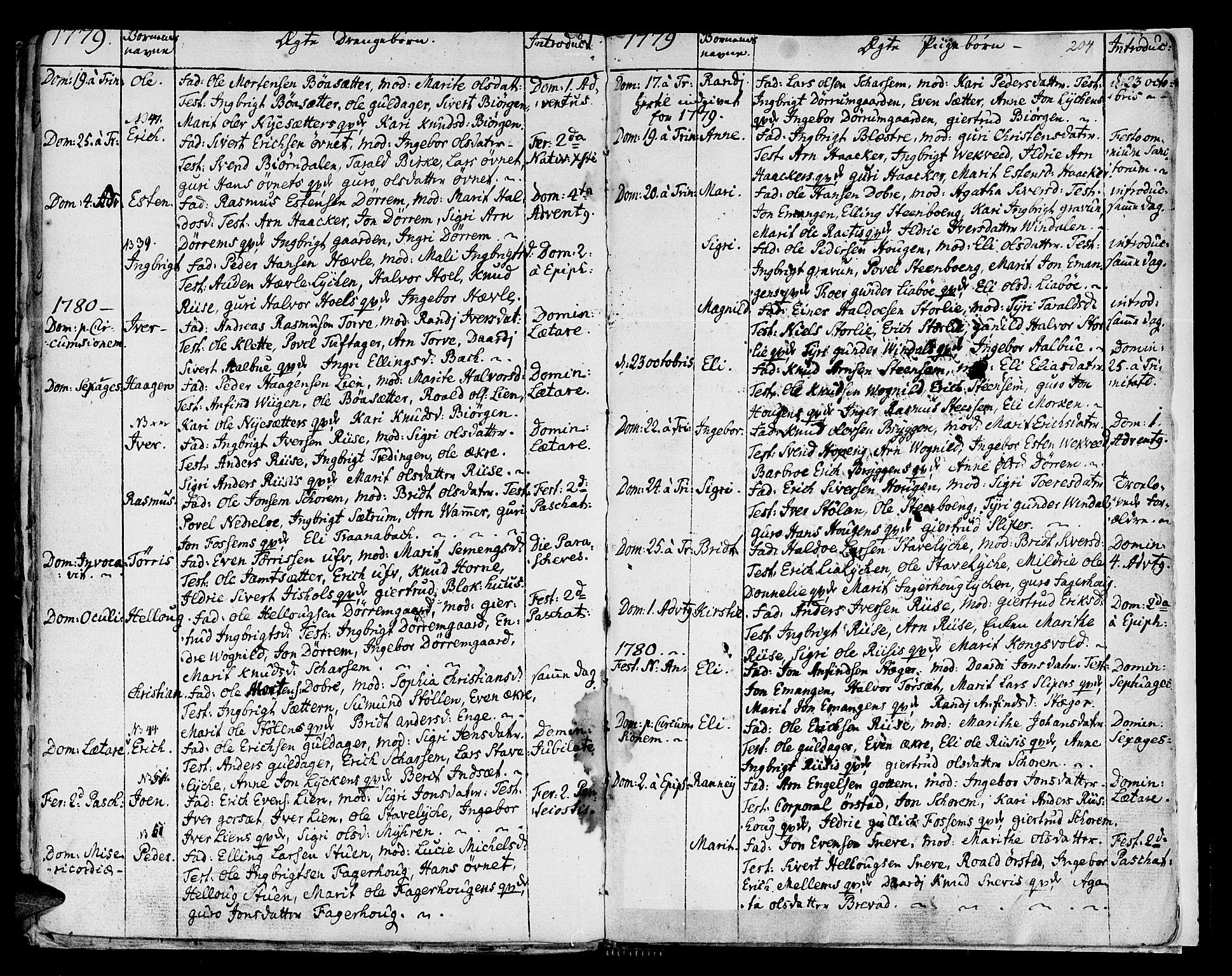SAT, Ministerialprotokoller, klokkerbøker og fødselsregistre - Sør-Trøndelag, 678/L0891: Ministerialbok nr. 678A01, 1739-1780, s. 204