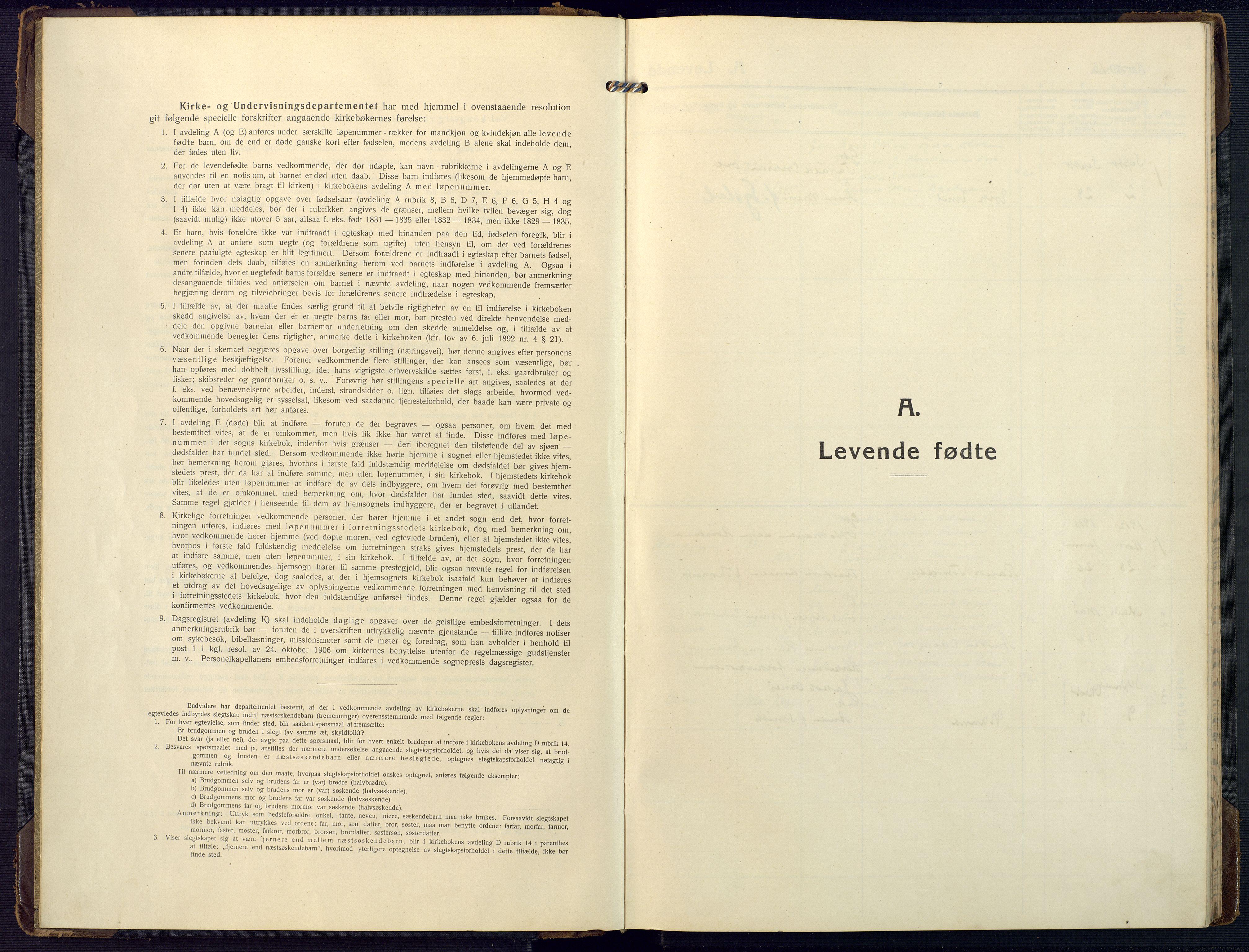 SAK, Mandal sokneprestkontor, F/Fa/Fab/L0003: Ministerialbok nr. A 3, 1913-1933
