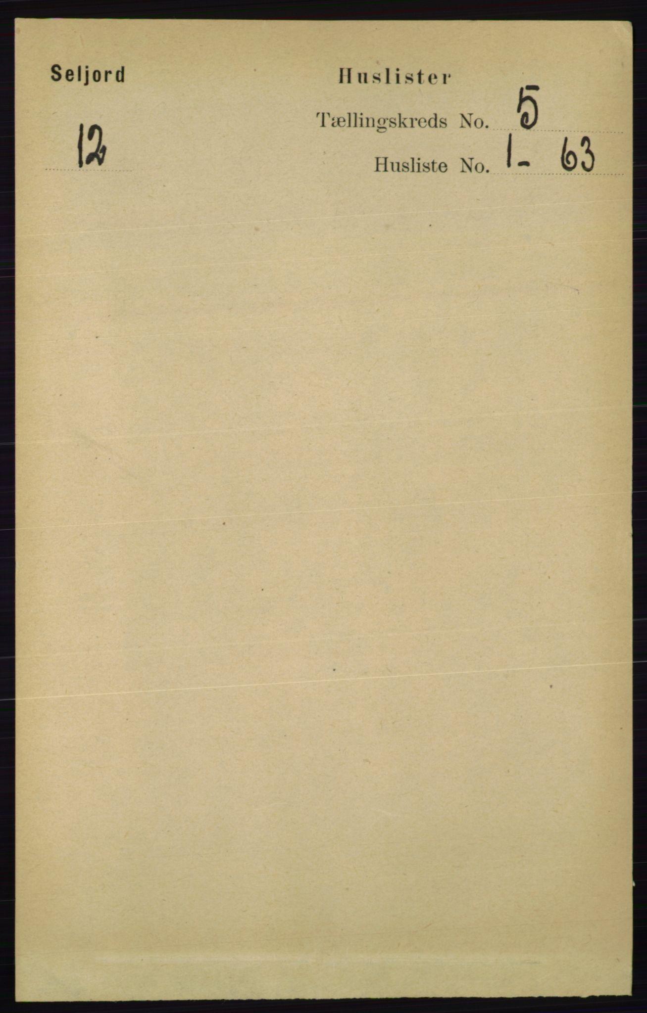 RA, Folketelling 1891 for 0828 Seljord herred, 1891, s. 1732