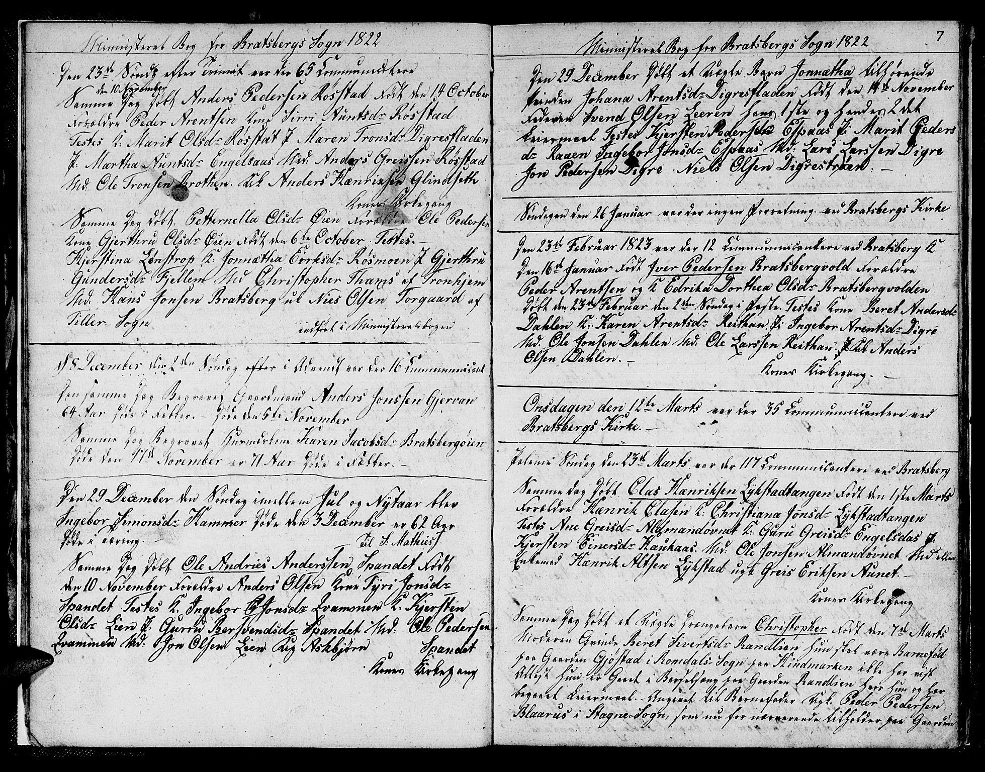 SAT, Ministerialprotokoller, klokkerbøker og fødselsregistre - Sør-Trøndelag, 608/L0337: Klokkerbok nr. 608C03, 1821-1831, s. 7