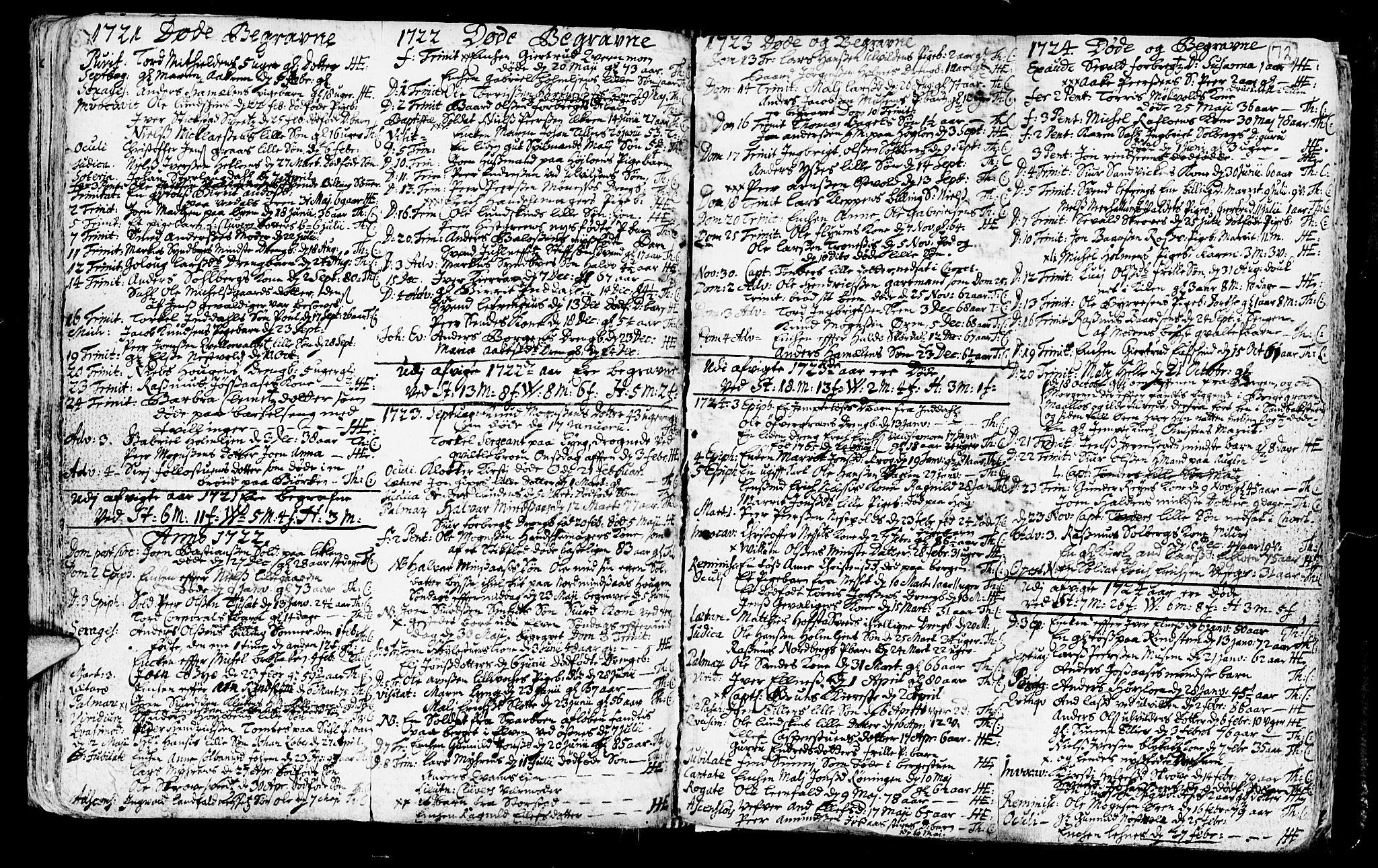 SAT, Ministerialprotokoller, klokkerbøker og fødselsregistre - Nord-Trøndelag, 723/L0230: Ministerialbok nr. 723A01, 1705-1747, s. 72