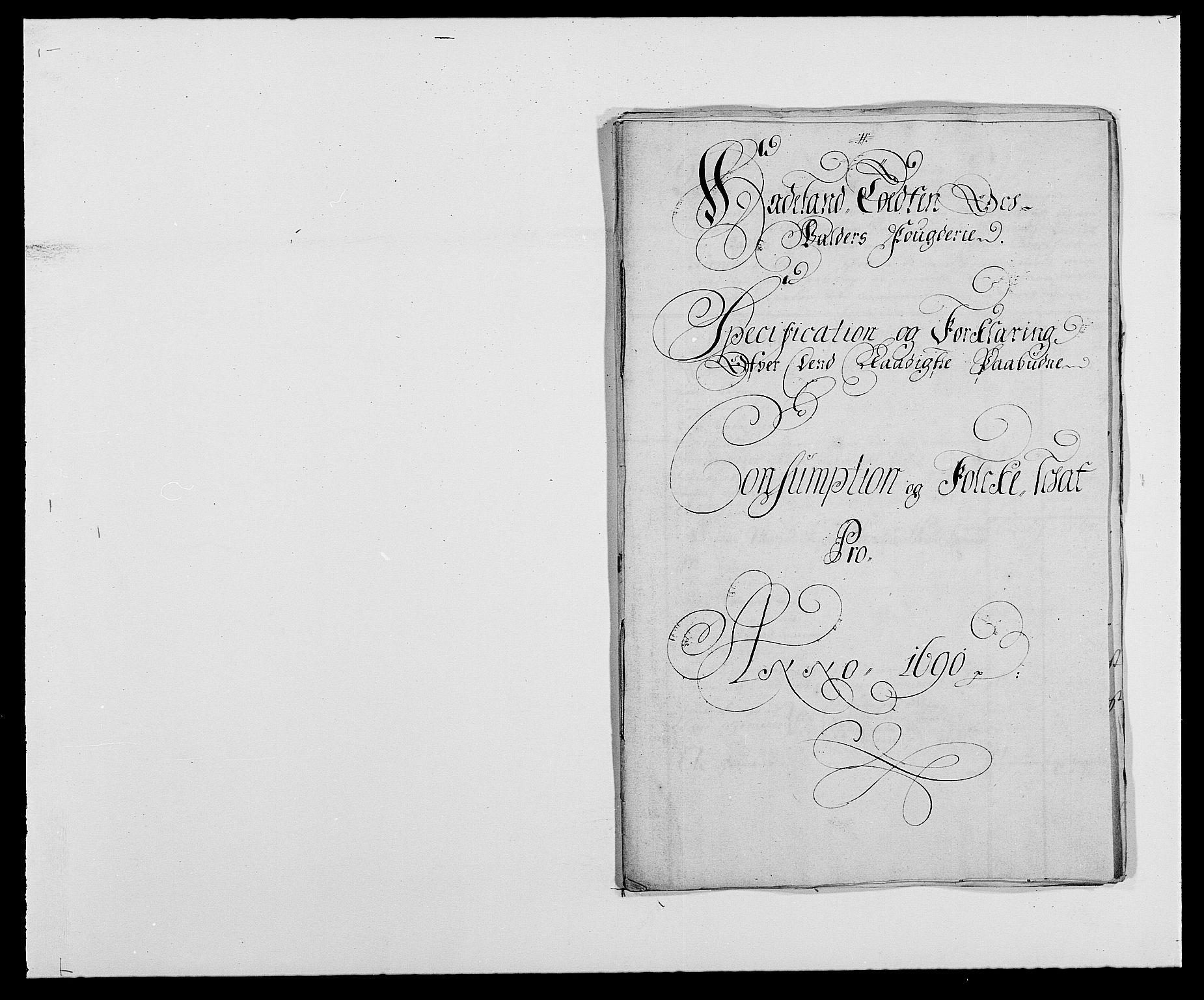 RA, Rentekammeret inntil 1814, Reviderte regnskaper, Fogderegnskap, R18/L1289: Fogderegnskap Hadeland, Toten og Valdres, 1690, s. 175