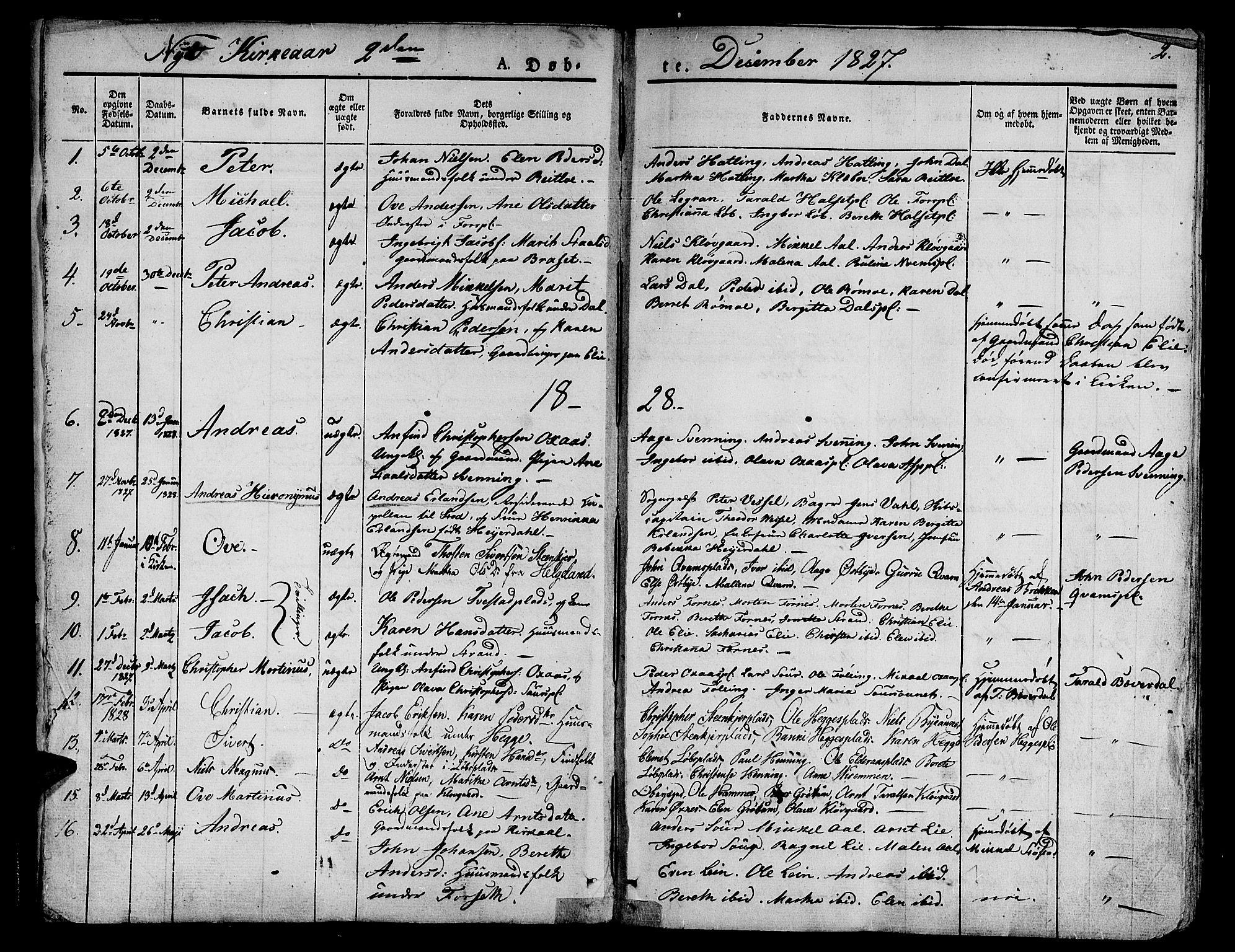 SAT, Ministerialprotokoller, klokkerbøker og fødselsregistre - Nord-Trøndelag, 746/L0445: Ministerialbok nr. 746A04, 1826-1846, s. 2