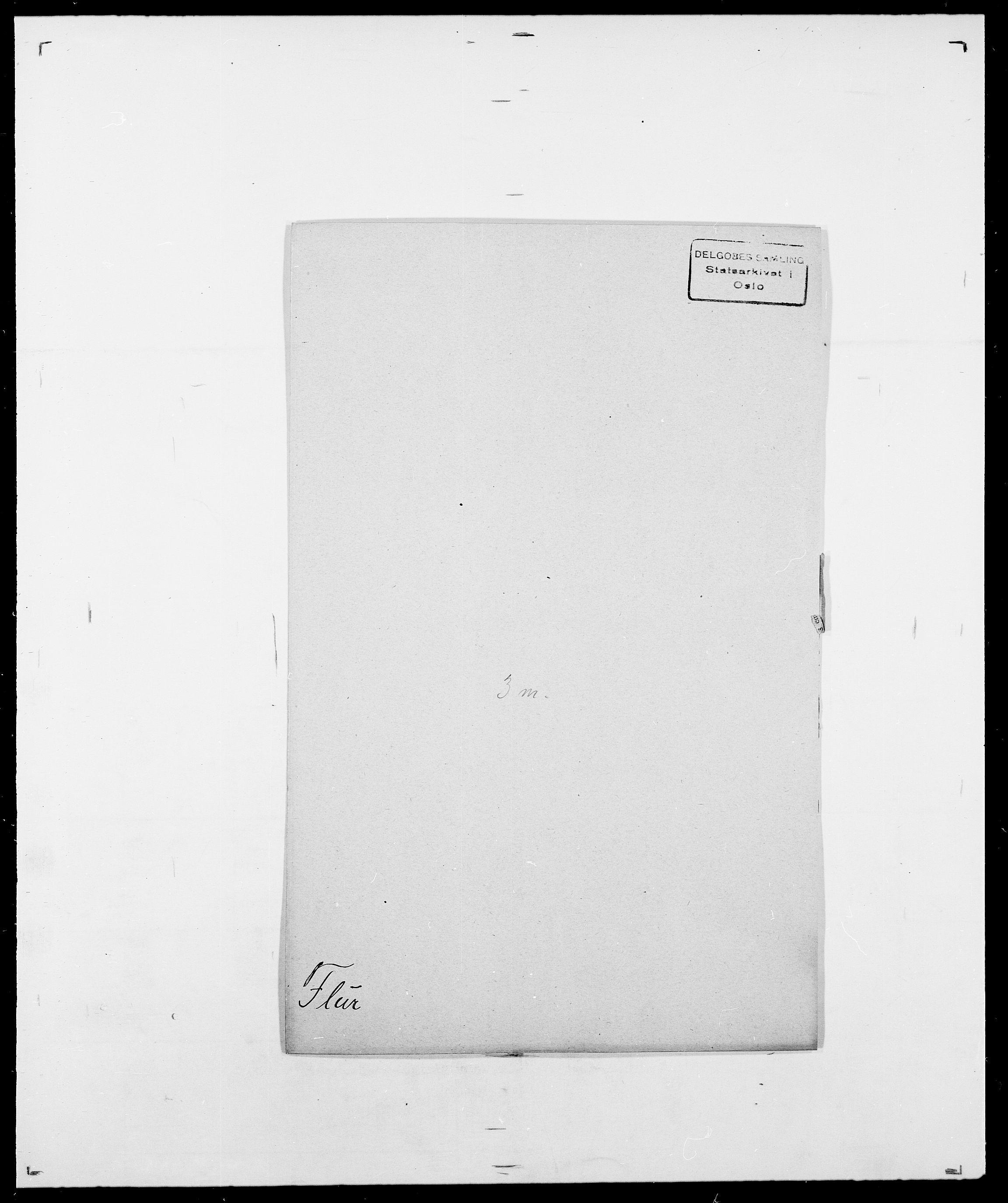 SAO, Delgobe, Charles Antoine - samling, D/Da/L0012: Flor, Floer, Flohr - Fritzner, s. 485