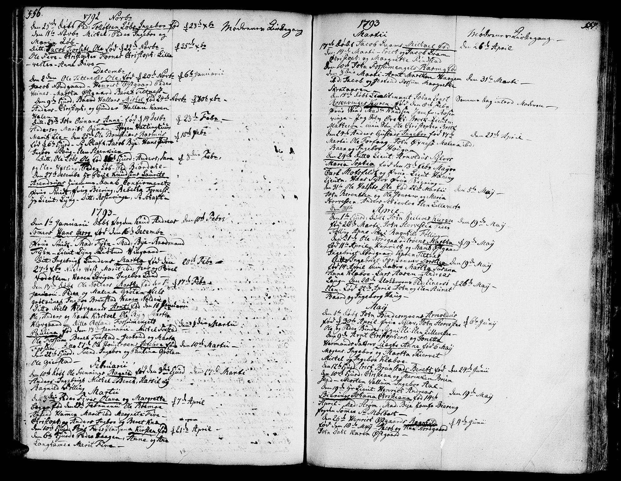 SAT, Ministerialprotokoller, klokkerbøker og fødselsregistre - Nord-Trøndelag, 746/L0440: Ministerialbok nr. 746A02, 1760-1815, s. 556-557