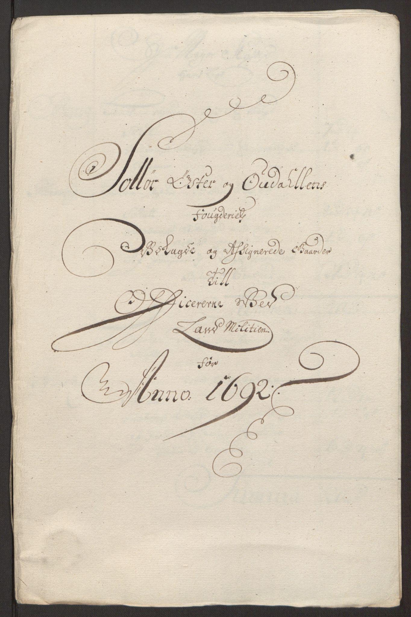 RA, Rentekammeret inntil 1814, Reviderte regnskaper, Fogderegnskap, R13/L0830: Fogderegnskap Solør, Odal og Østerdal, 1692, s. 423