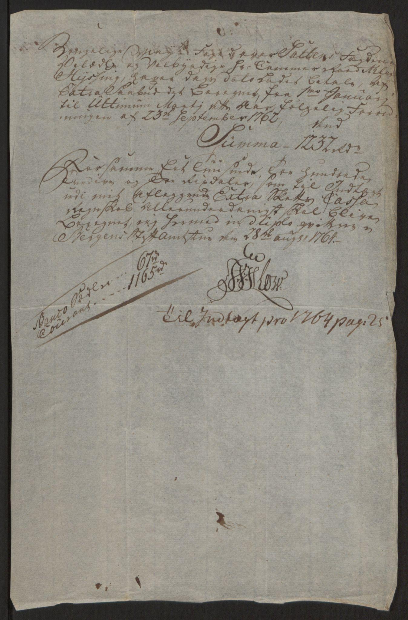 RA, Rentekammeret inntil 1814, Reviderte regnskaper, Fogderegnskap, R66/L4670: Ekstraskatten Salten, 1762-1764, s. 399