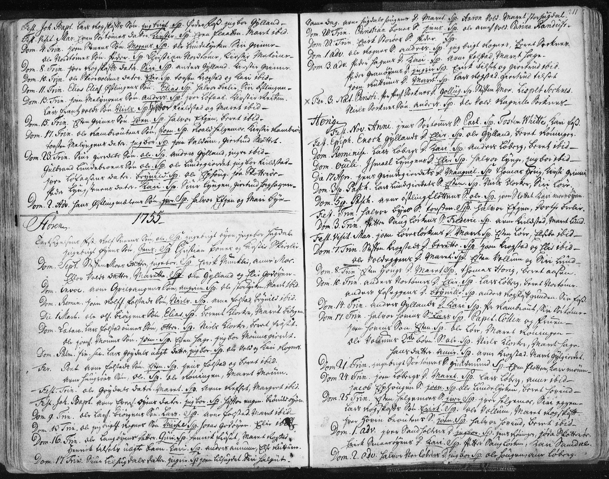 SAT, Ministerialprotokoller, klokkerbøker og fødselsregistre - Sør-Trøndelag, 687/L0991: Ministerialbok nr. 687A02, 1747-1790, s. 211