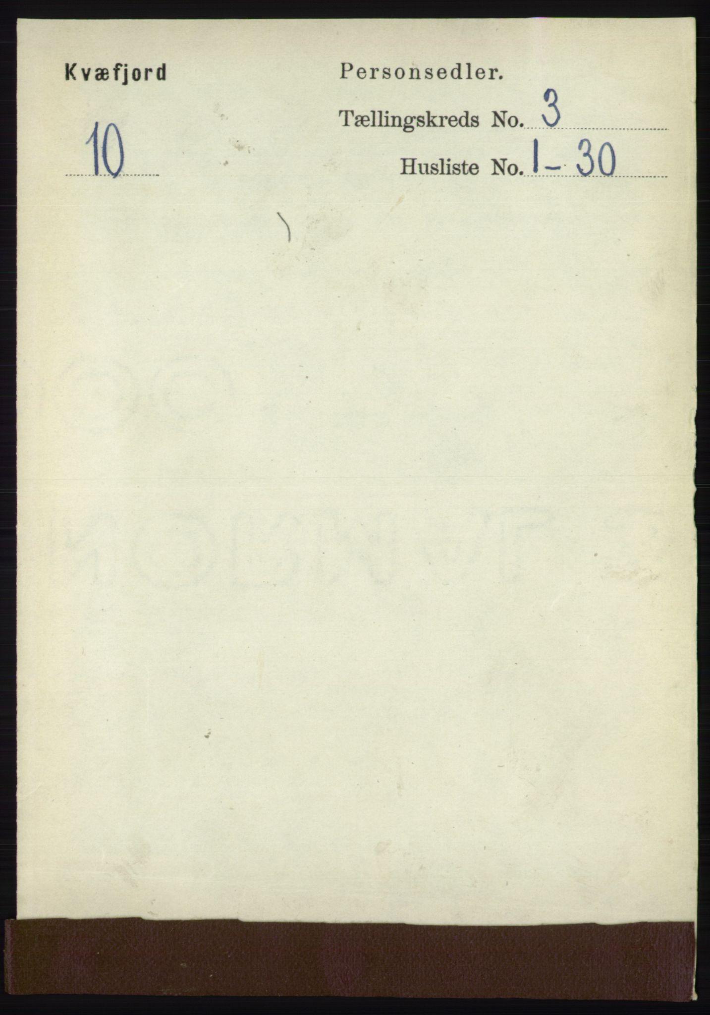 RA, Folketelling 1891 for 1911 Kvæfjord herred, 1891, s. 1300