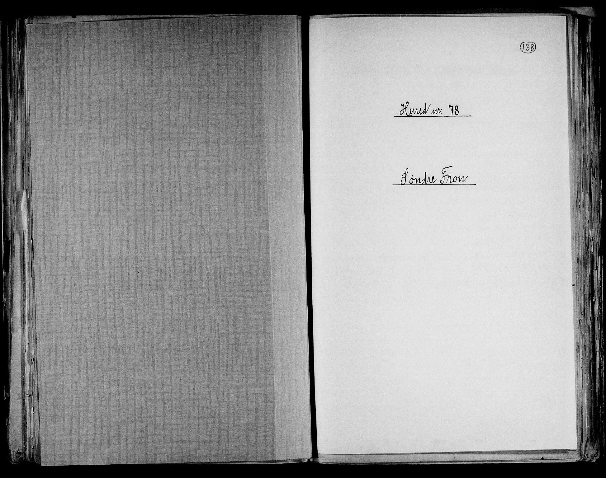 RA, Folketelling 1891 for 0519 Sør-Fron herred, 1891, s. 1