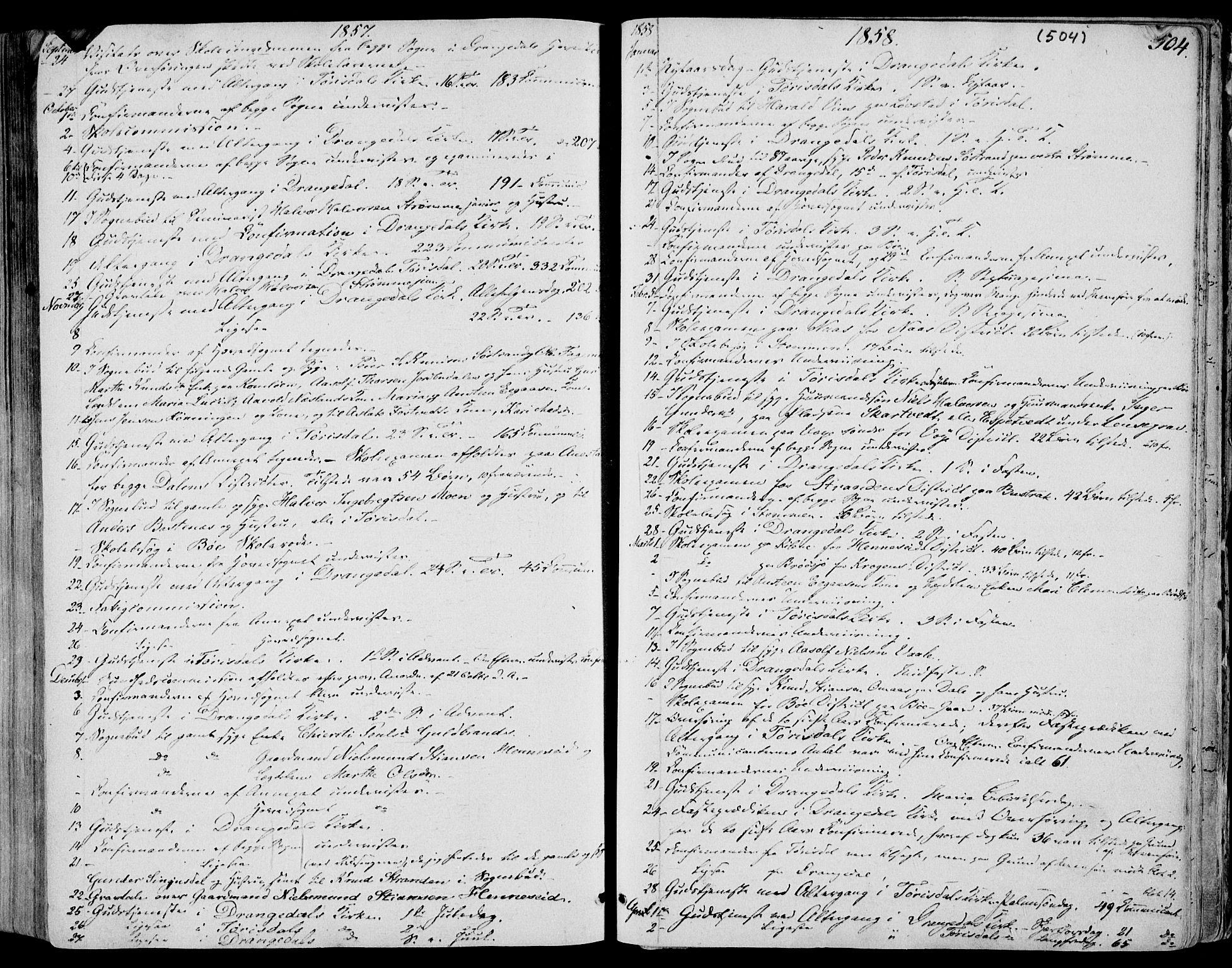 SAKO, Drangedal kirkebøker, F/Fa/L0008: Ministerialbok nr. 8, 1857-1871, s. 504