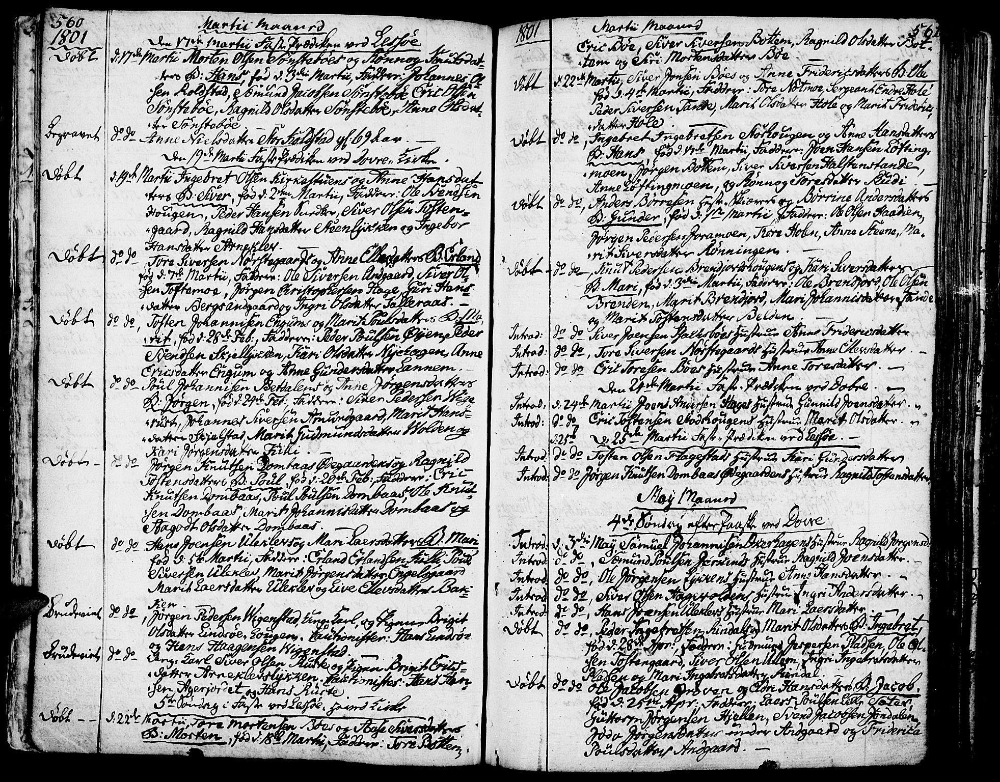 SAH, Lesja prestekontor, Ministerialbok nr. 3, 1777-1819, s. 560-561