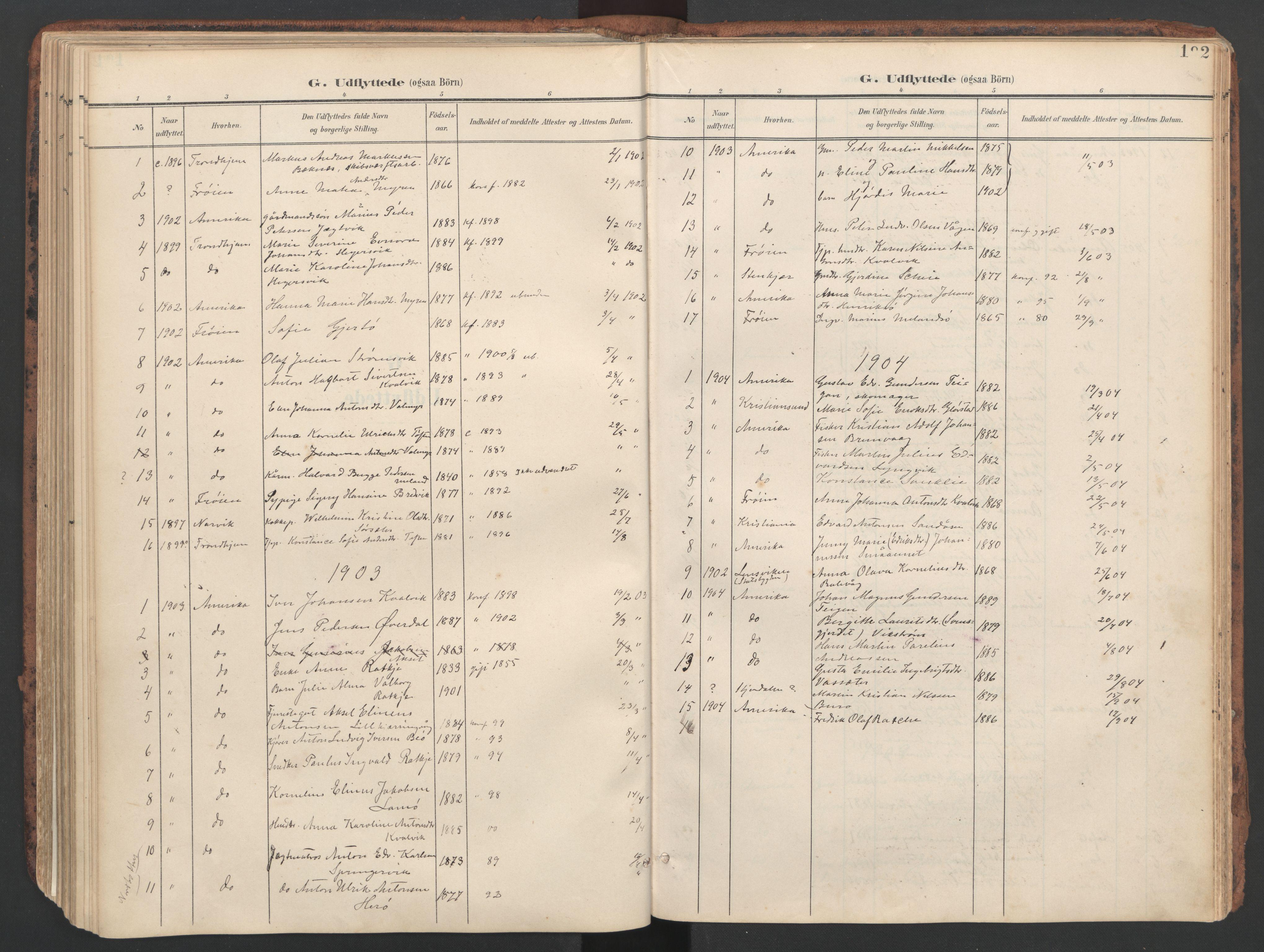 SAT, Ministerialprotokoller, klokkerbøker og fødselsregistre - Sør-Trøndelag, 634/L0537: Ministerialbok nr. 634A13, 1896-1922, s. 192