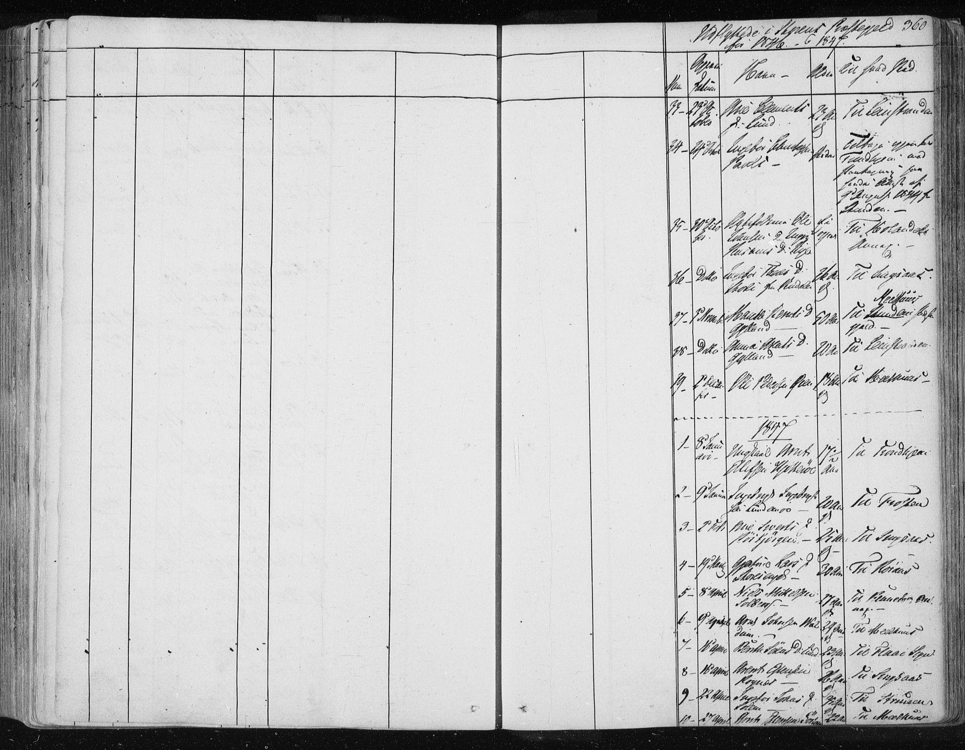 SAT, Ministerialprotokoller, klokkerbøker og fødselsregistre - Sør-Trøndelag, 687/L0997: Ministerialbok nr. 687A05 /1, 1843-1848, s. 360