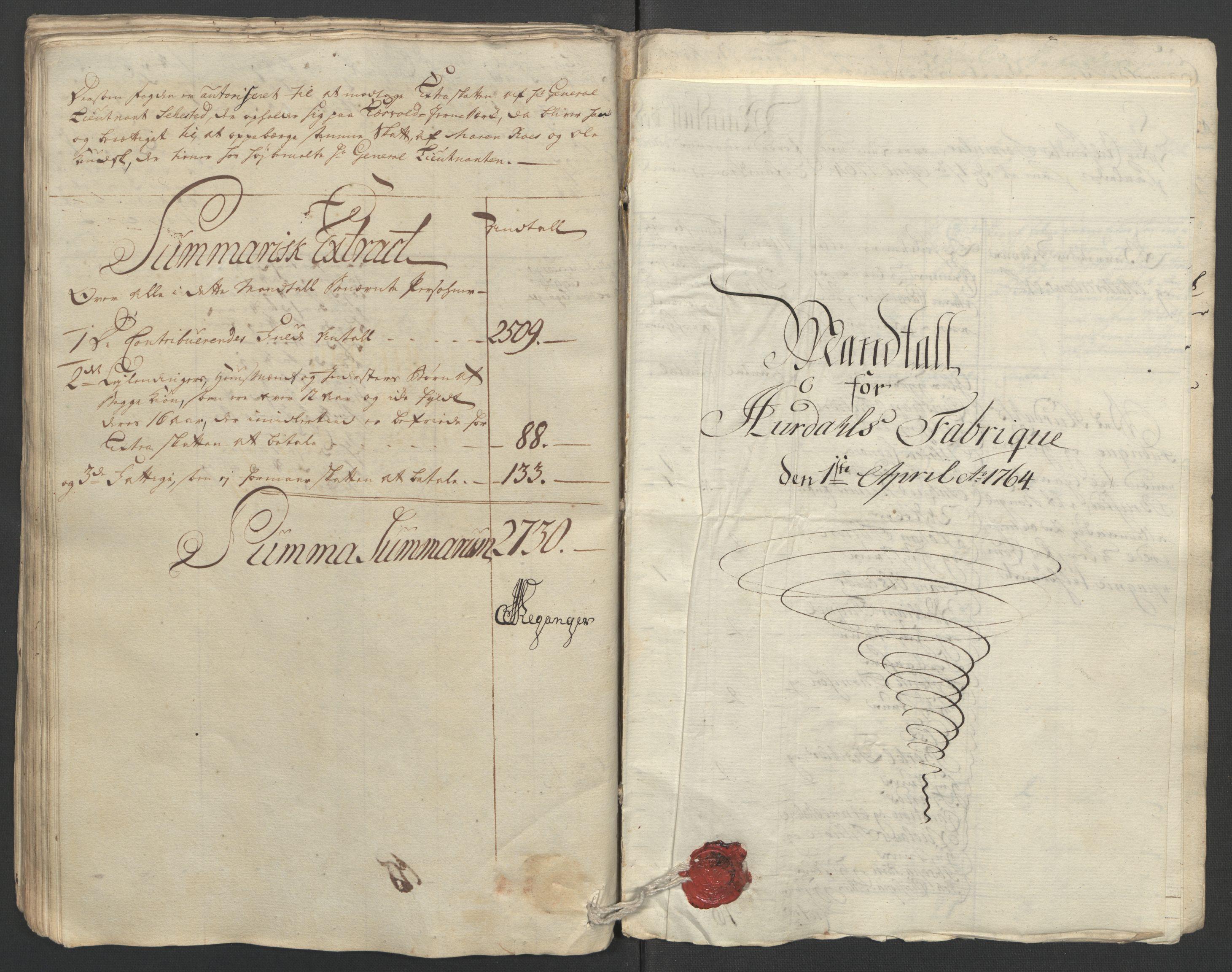 RA, Rentekammeret inntil 1814, Reviderte regnskaper, Fogderegnskap, R12/L0804: Ekstraskatten Øvre Romerike, 1764, s. 144