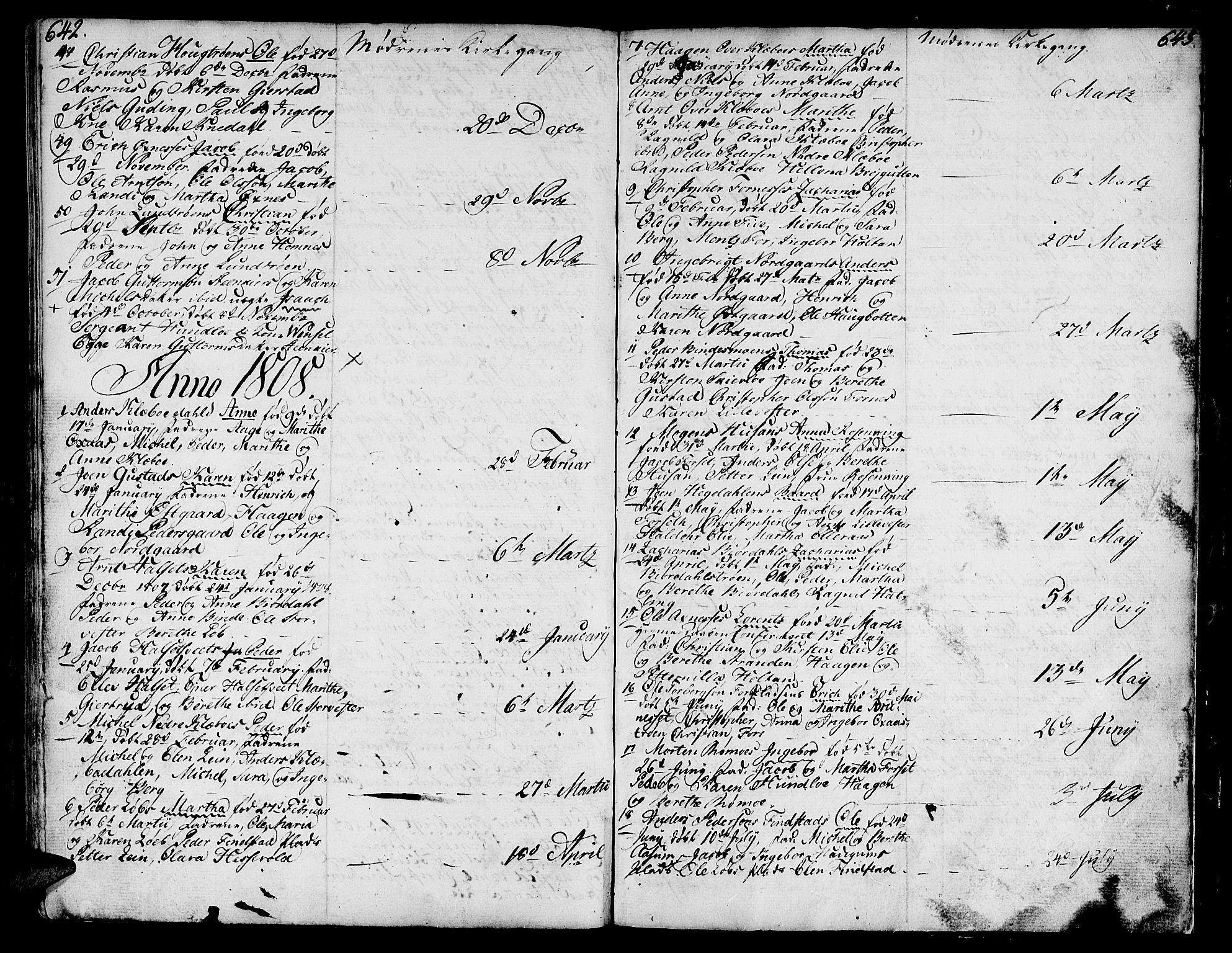 SAT, Ministerialprotokoller, klokkerbøker og fødselsregistre - Nord-Trøndelag, 746/L0440: Ministerialbok nr. 746A02, 1760-1815, s. 642-643
