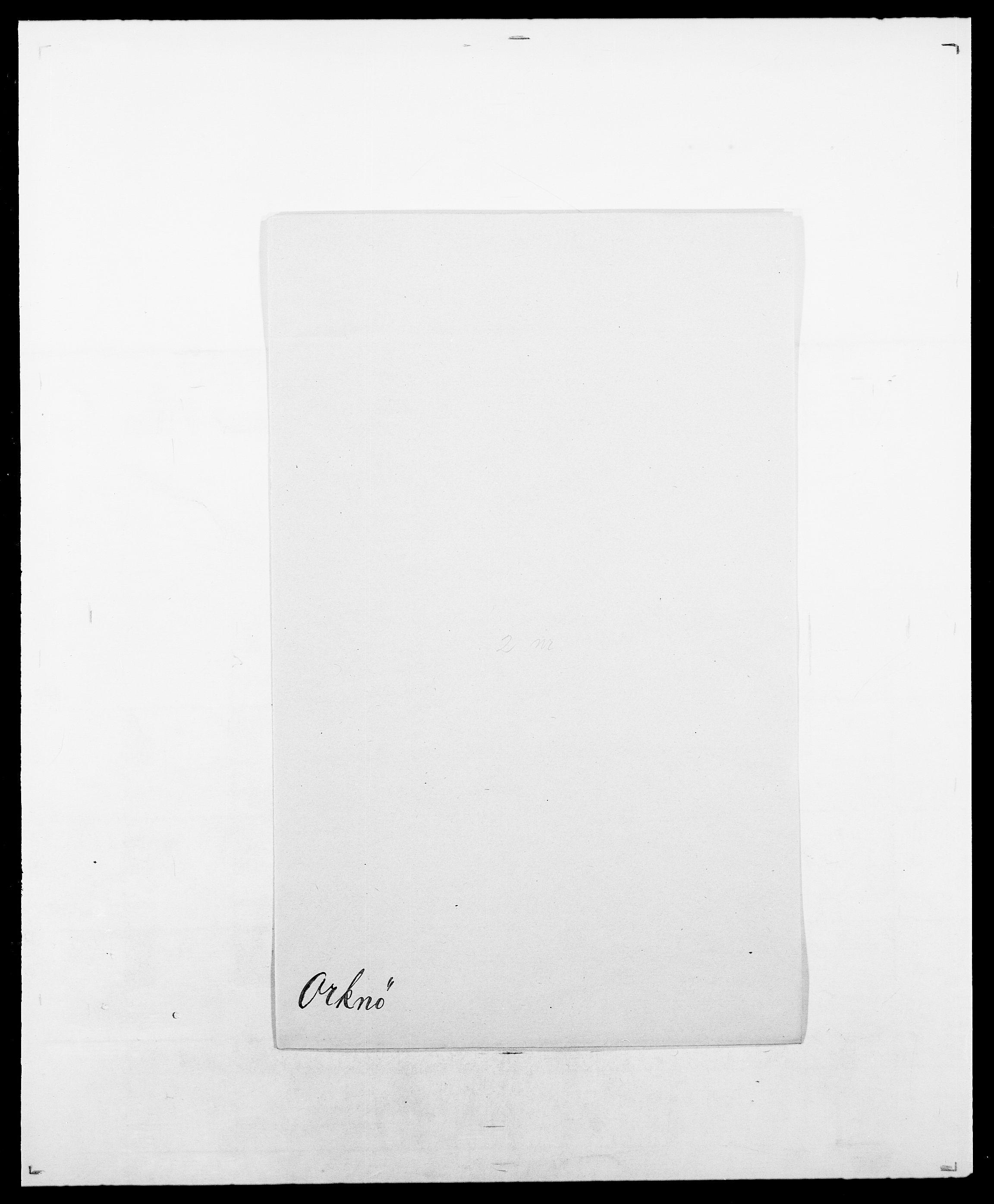 SAO, Delgobe, Charles Antoine - samling, D/Da/L0029: Obel - Oxholm, s. 405