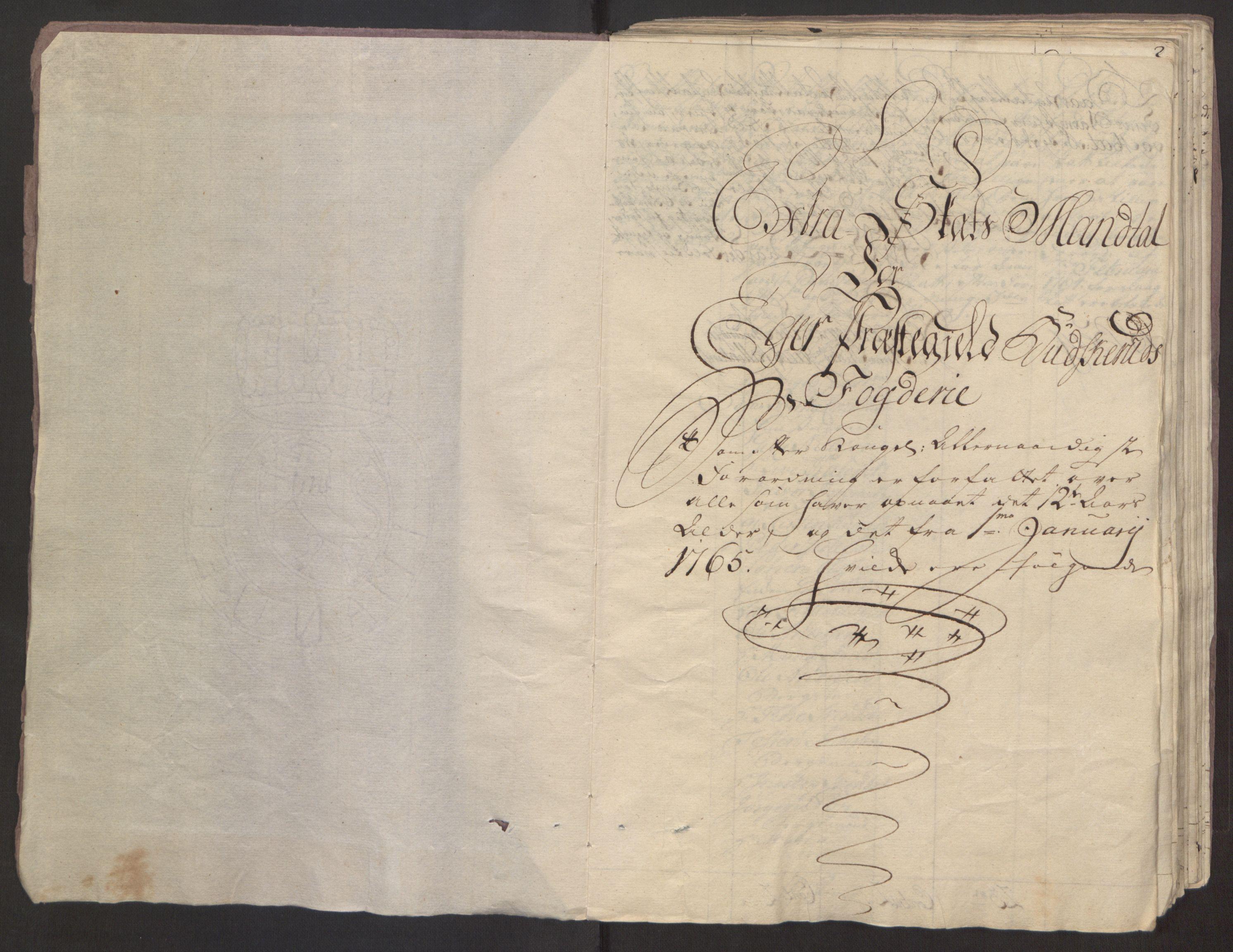 RA, Rentekammeret inntil 1814, Reviderte regnskaper, Fogderegnskap, R31/L1834: Ekstraskatten Hurum, Røyken, Eiker, Lier og Buskerud, 1765, s. 113