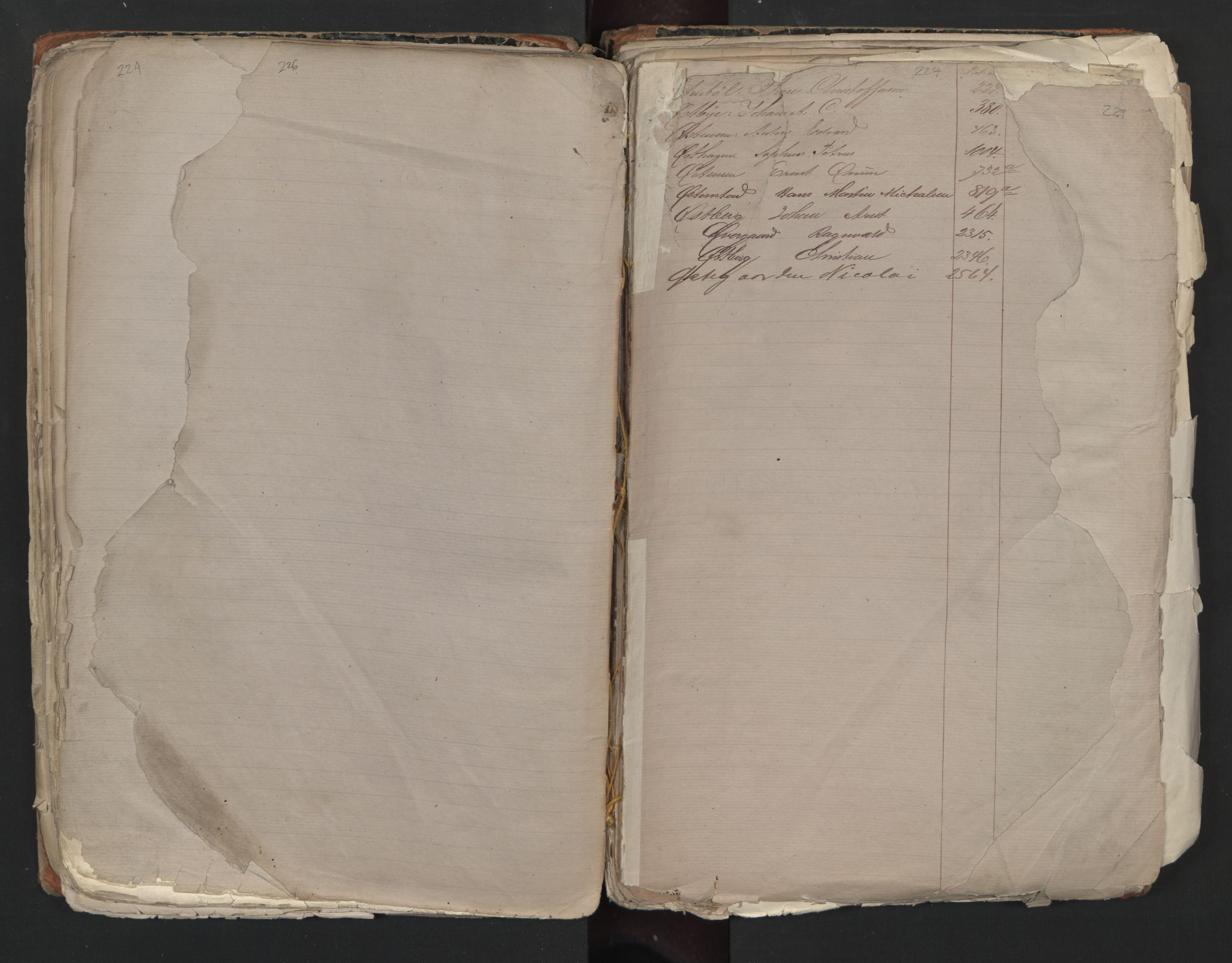 SAO, Oslo sjømannskontor, F/Fa/L0001: Register for Kristiania krets, 1866-1891, s. 226-227