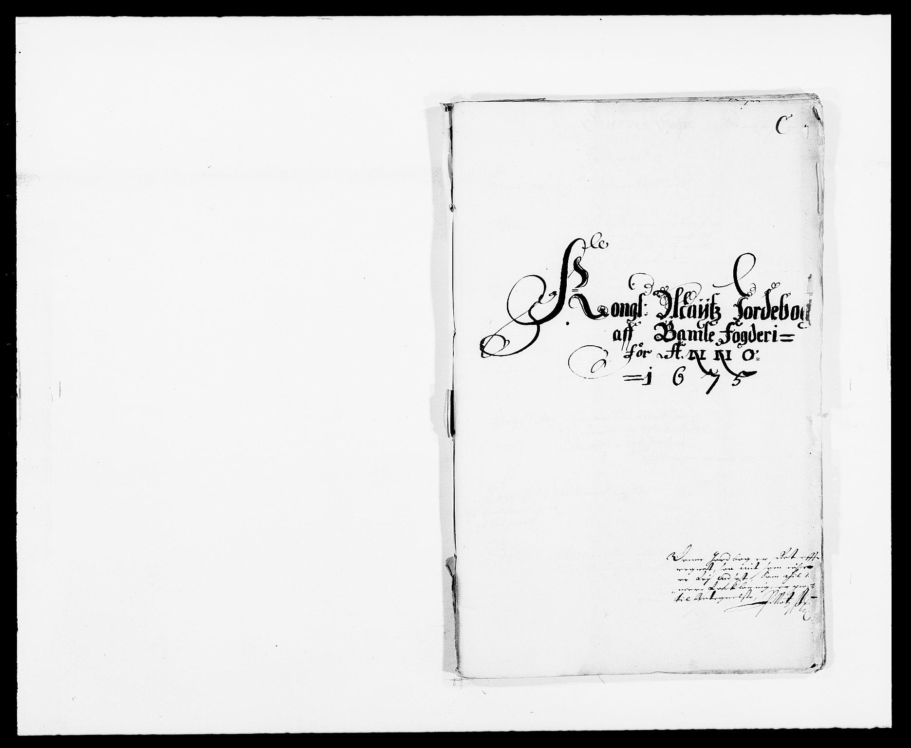 RA, Rentekammeret inntil 1814, Reviderte regnskaper, Fogderegnskap, R34/L2042: Fogderegnskap Bamble, 1673-1675, s. 351