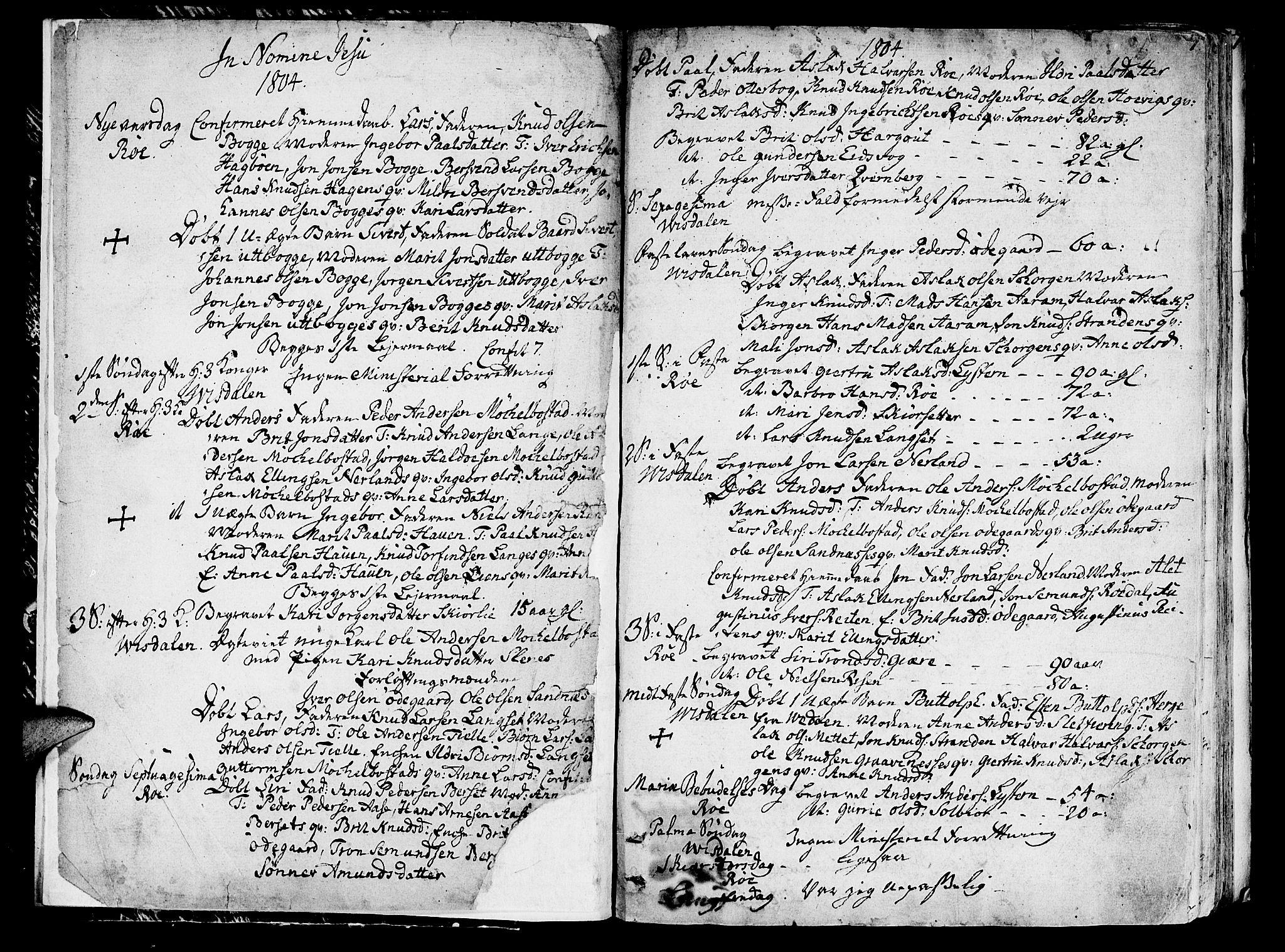 SAT, Ministerialprotokoller, klokkerbøker og fødselsregistre - Møre og Romsdal, 551/L0622: Ministerialbok nr. 551A02, 1804-1845, s. 0-1