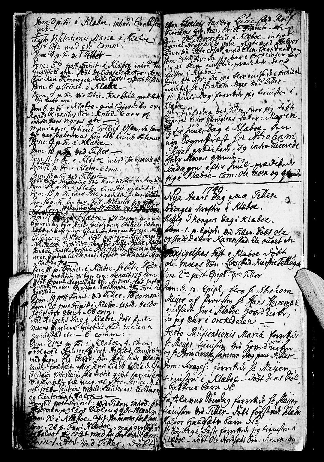 SAT, Ministerialprotokoller, klokkerbøker og fødselsregistre - Sør-Trøndelag, 618/L0436: Ministerialbok nr. 618A01, 1741-1749, s. 14