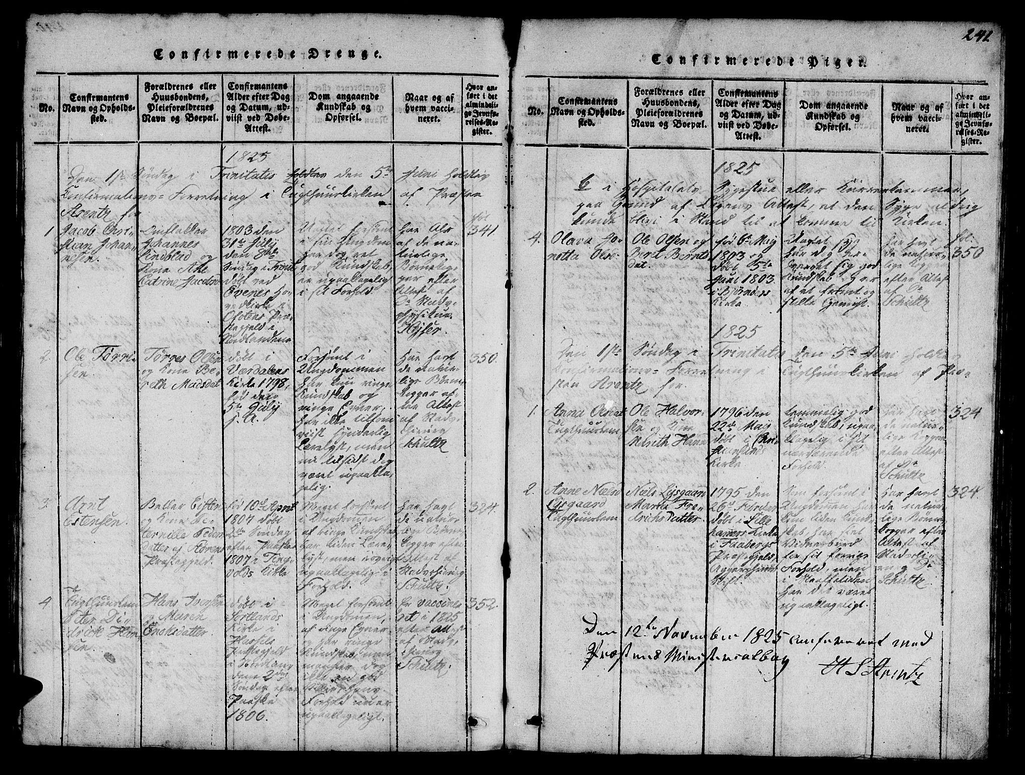SAT, Ministerialprotokoller, klokkerbøker og fødselsregistre - Sør-Trøndelag, 623/L0478: Klokkerbok nr. 623C01, 1815-1873, s. 241
