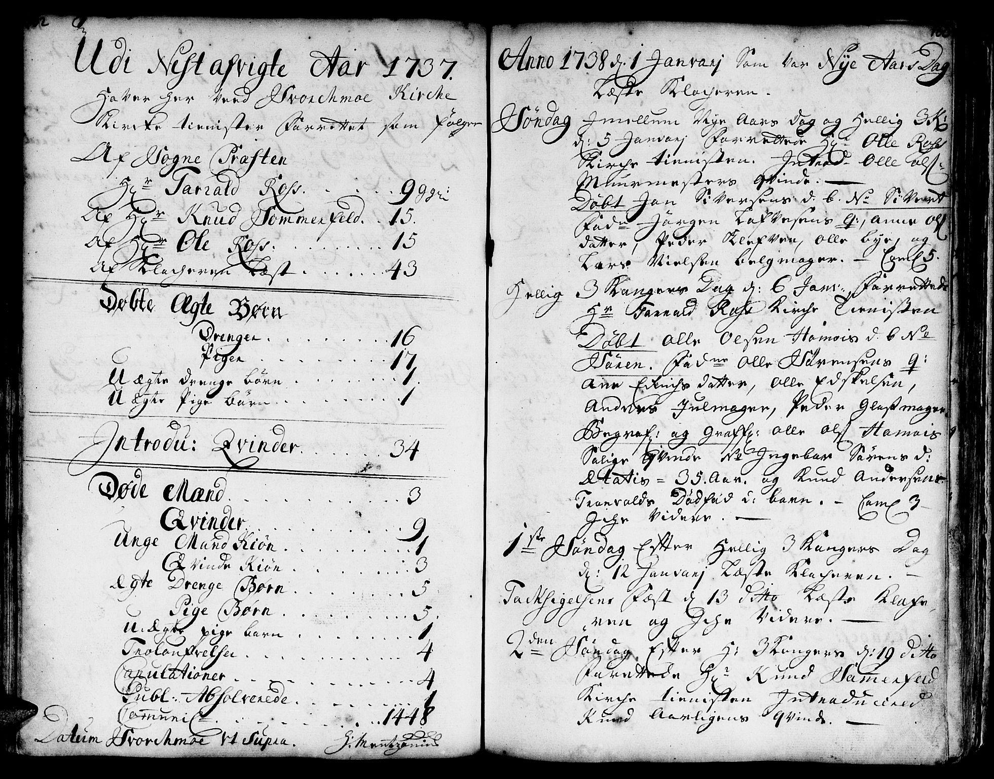 SAT, Ministerialprotokoller, klokkerbøker og fødselsregistre - Sør-Trøndelag, 671/L0839: Ministerialbok nr. 671A01, 1730-1755, s. 162-163