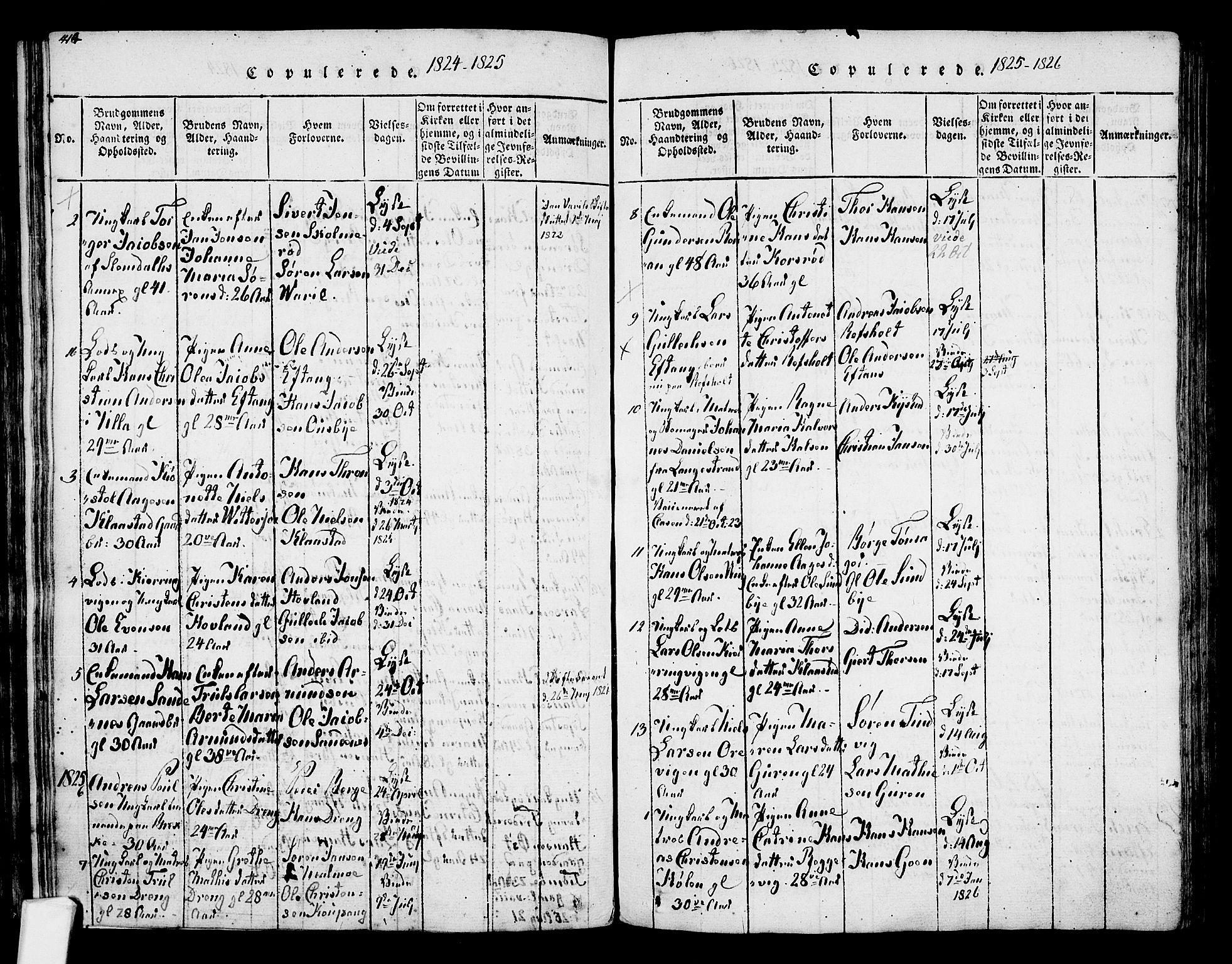 SAKO, Tjølling kirkebøker, F/Fa/L0005: Ministerialbok nr. 5, 1814-1836, s. 414-415
