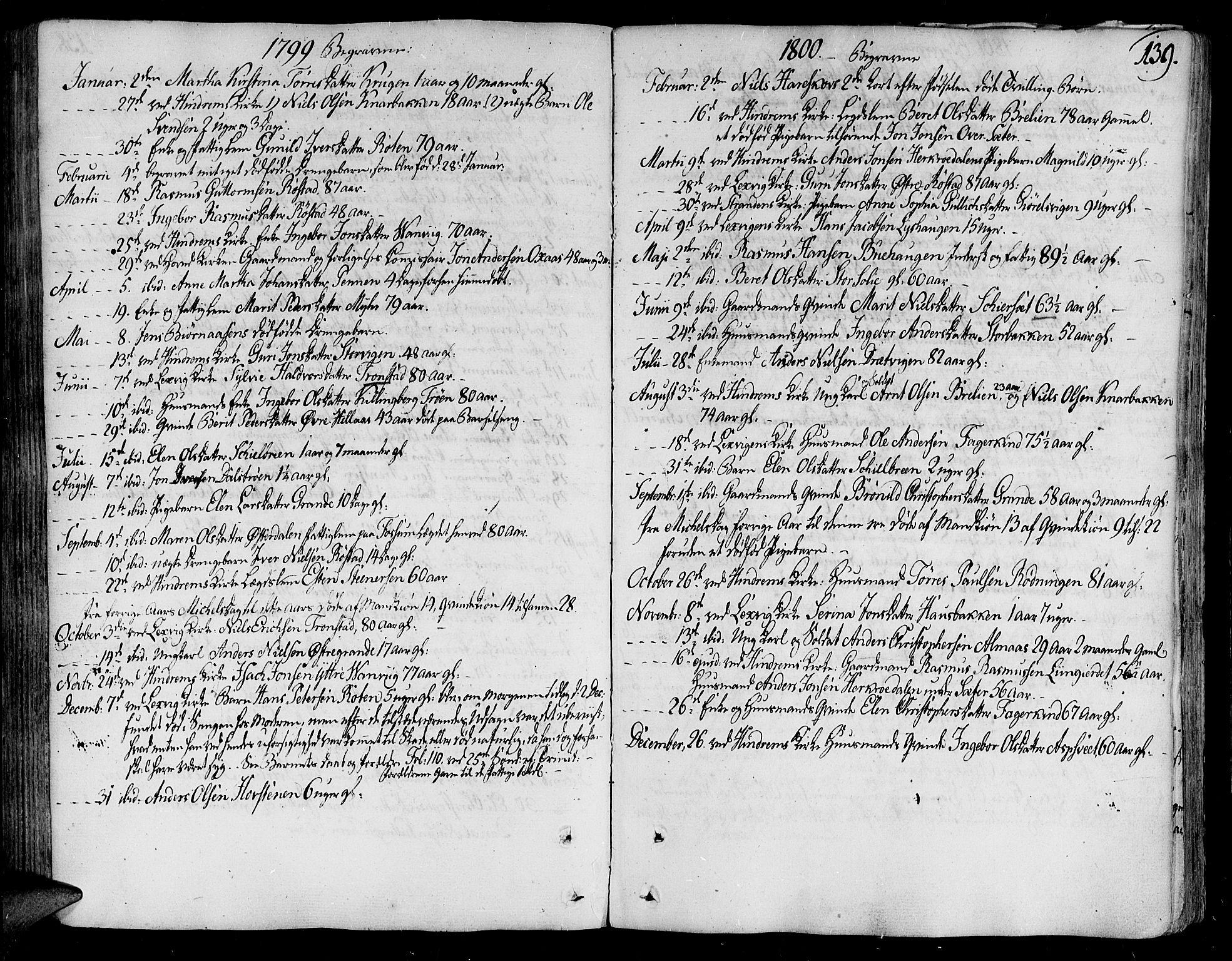 SAT, Ministerialprotokoller, klokkerbøker og fødselsregistre - Nord-Trøndelag, 701/L0004: Ministerialbok nr. 701A04, 1783-1816, s. 139