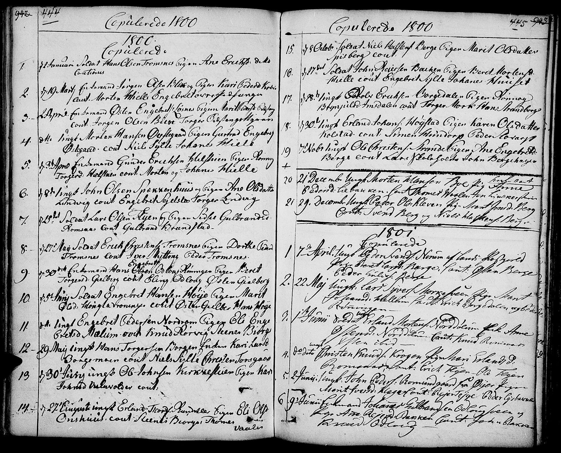 SAH, Ringebu prestekontor, Ministerialbok nr. 3, 1781-1820, s. 444-445