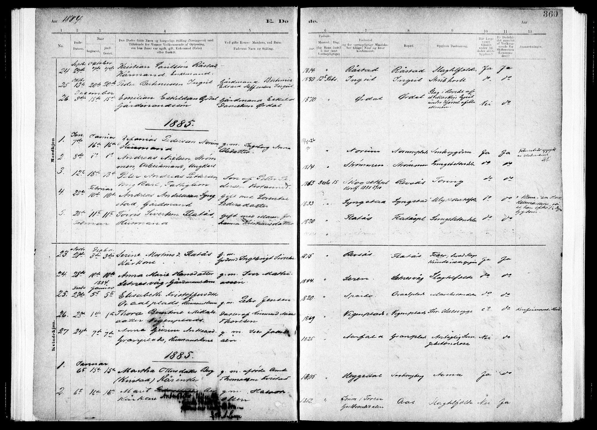 SAT, Ministerialprotokoller, klokkerbøker og fødselsregistre - Nord-Trøndelag, 730/L0285: Ministerialbok nr. 730A10, 1879-1914, s. 360