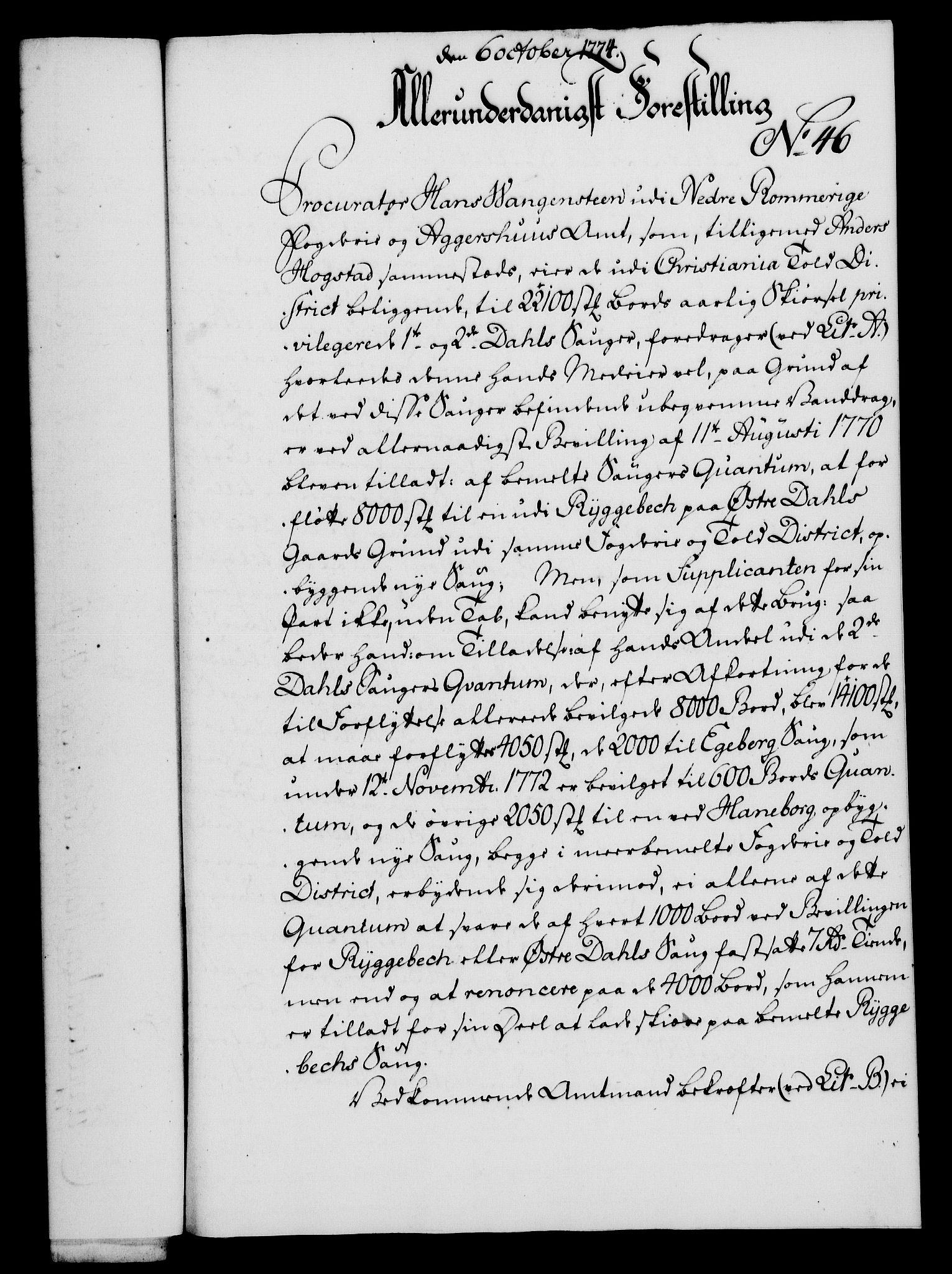 RA, Rentekammeret, Kammerkanselliet, G/Gf/Gfa/L0056: Norsk relasjons- og resolusjonsprotokoll (merket RK 52.56), 1774, s. 192