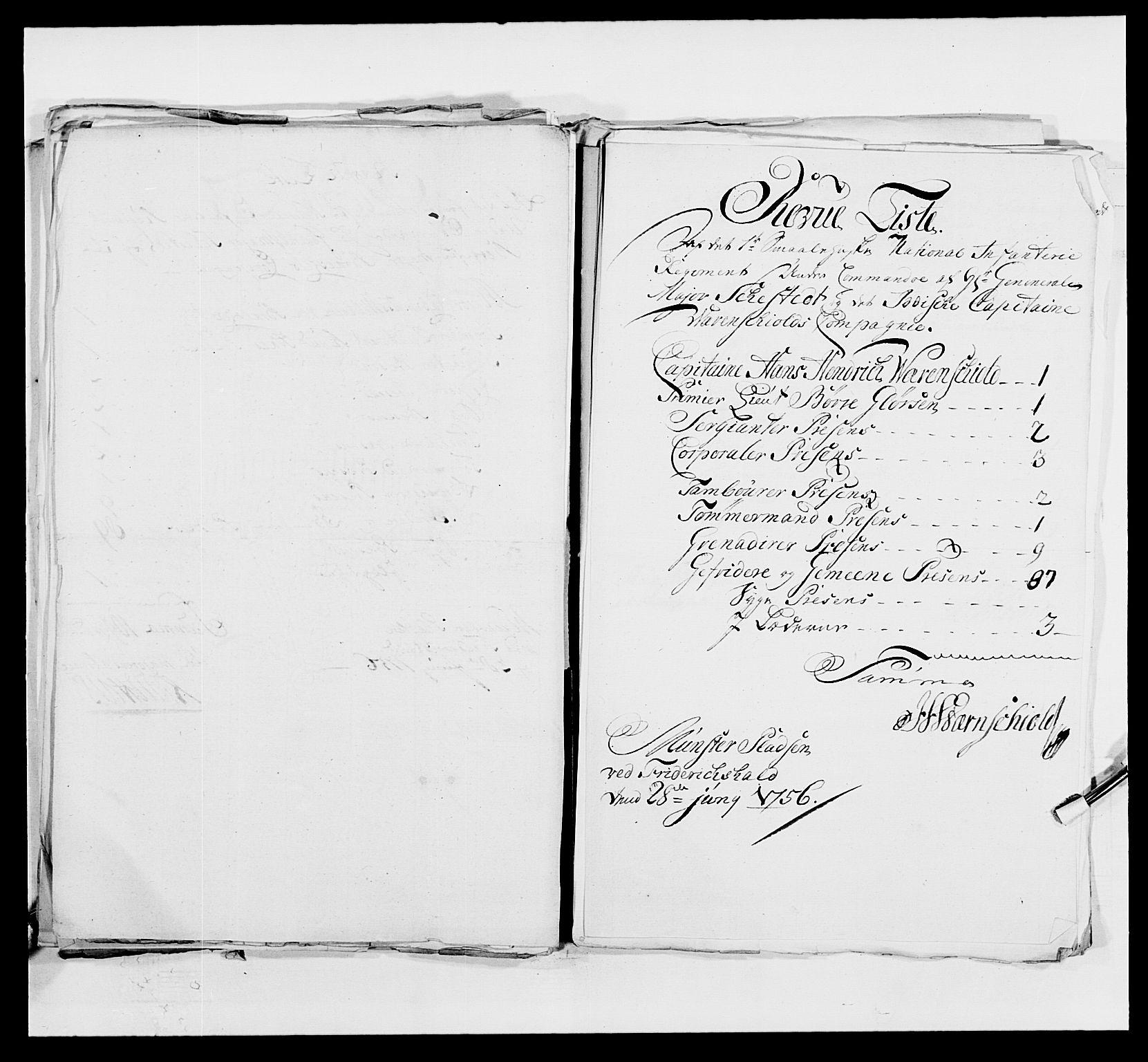 RA, Kommanderende general (KG I) med Det norske krigsdirektorium, E/Ea/L0495: 1. Smålenske regiment, 1732-1763, s. 622