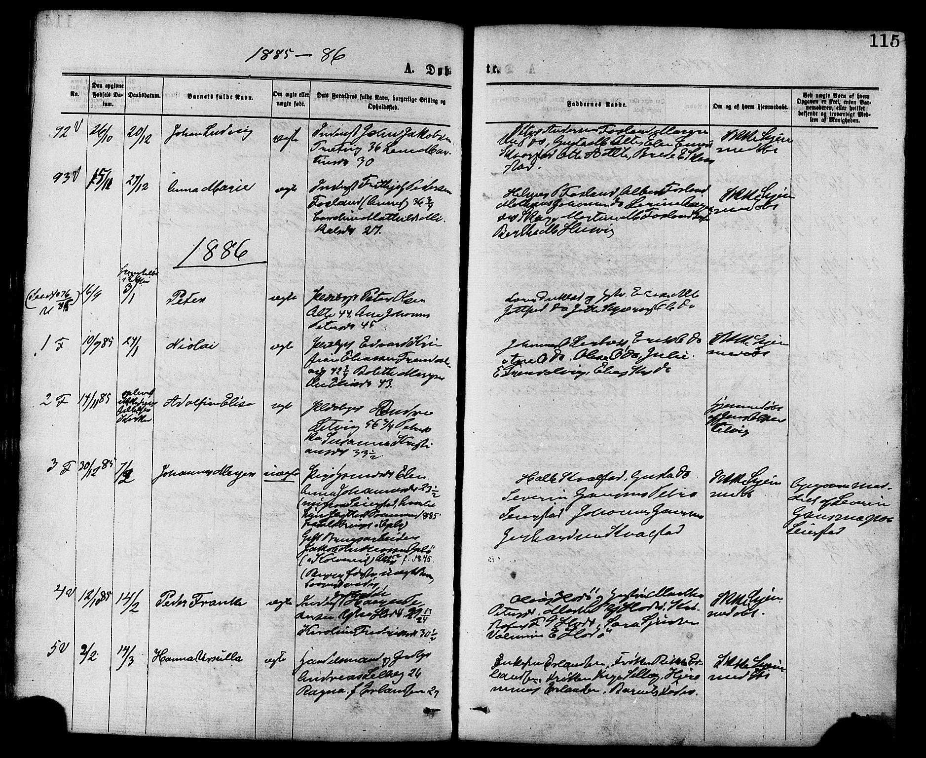 SAT, Ministerialprotokoller, klokkerbøker og fødselsregistre - Nord-Trøndelag, 773/L0616: Ministerialbok nr. 773A07, 1870-1887, s. 115