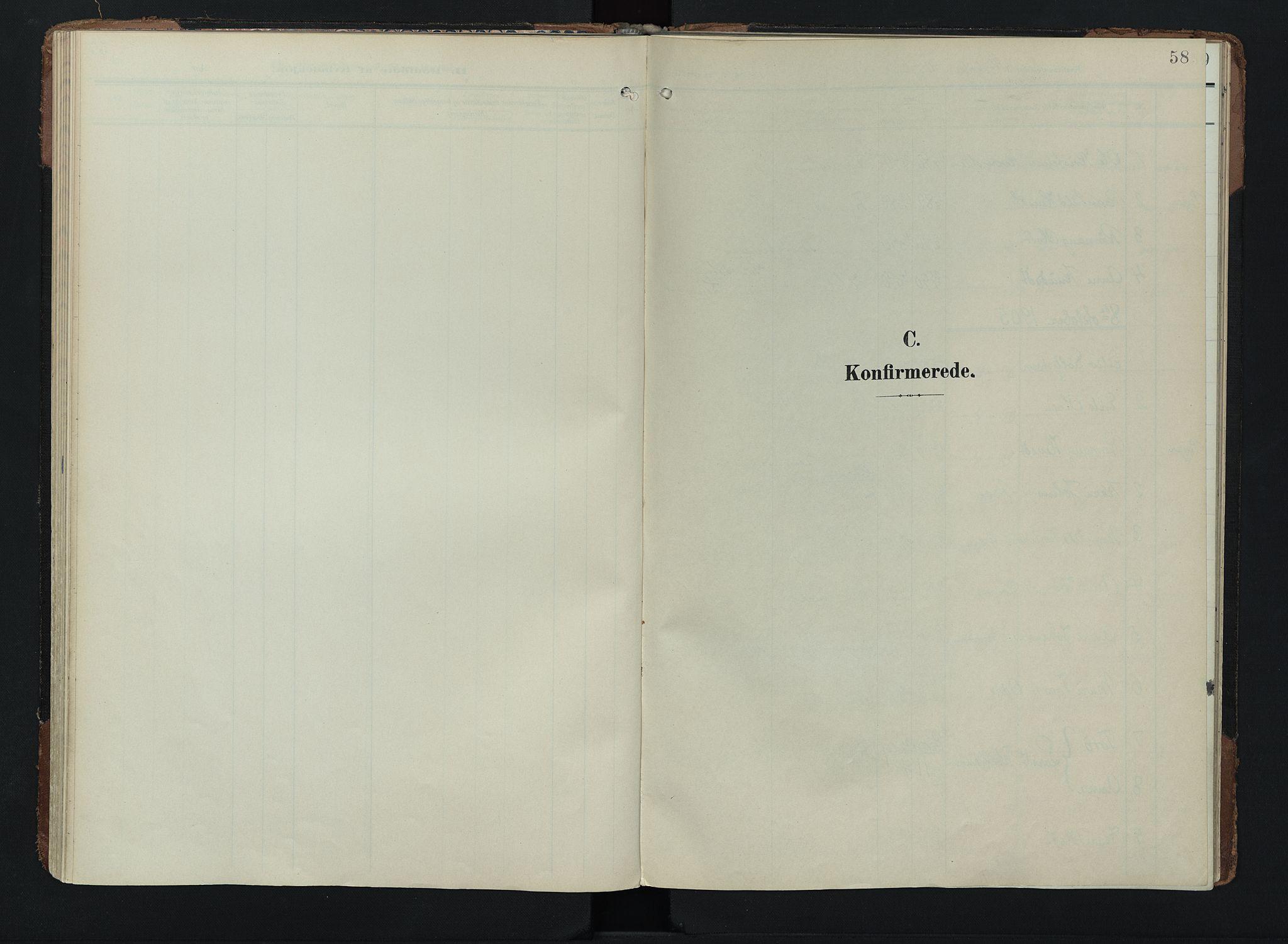 SAH, Lom prestekontor, K/L0011: Ministerialbok nr. 11, 1904-1928, s. 58
