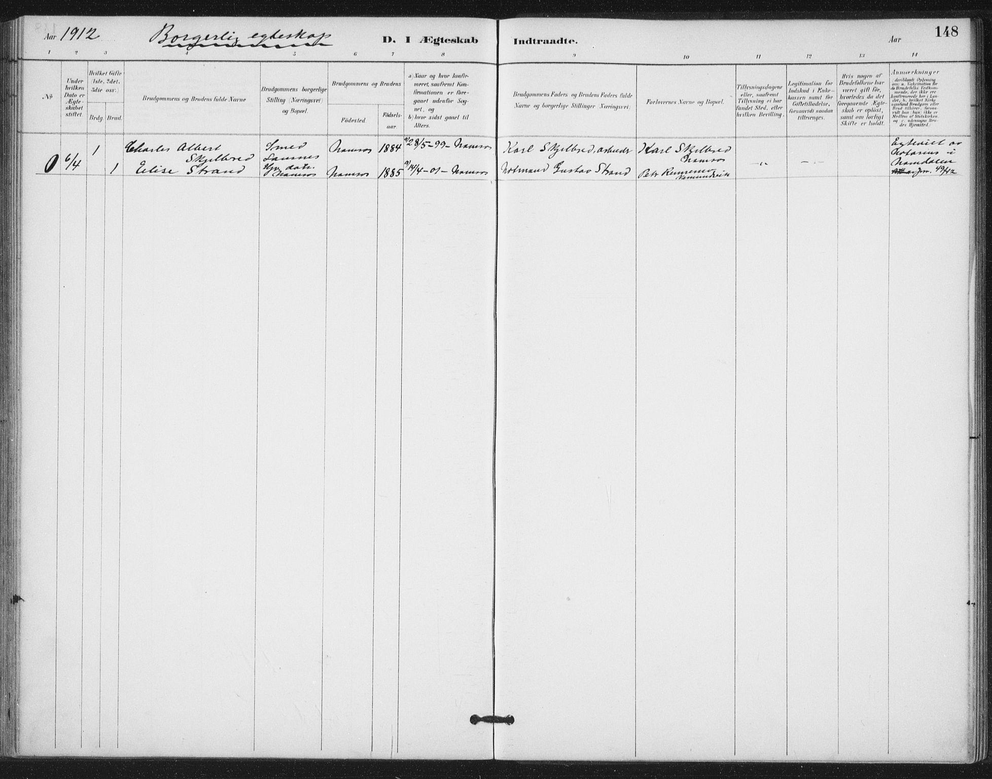 SAT, Ministerialprotokoller, klokkerbøker og fødselsregistre - Nord-Trøndelag, 772/L0603: Ministerialbok nr. 772A01, 1885-1912, s. 148