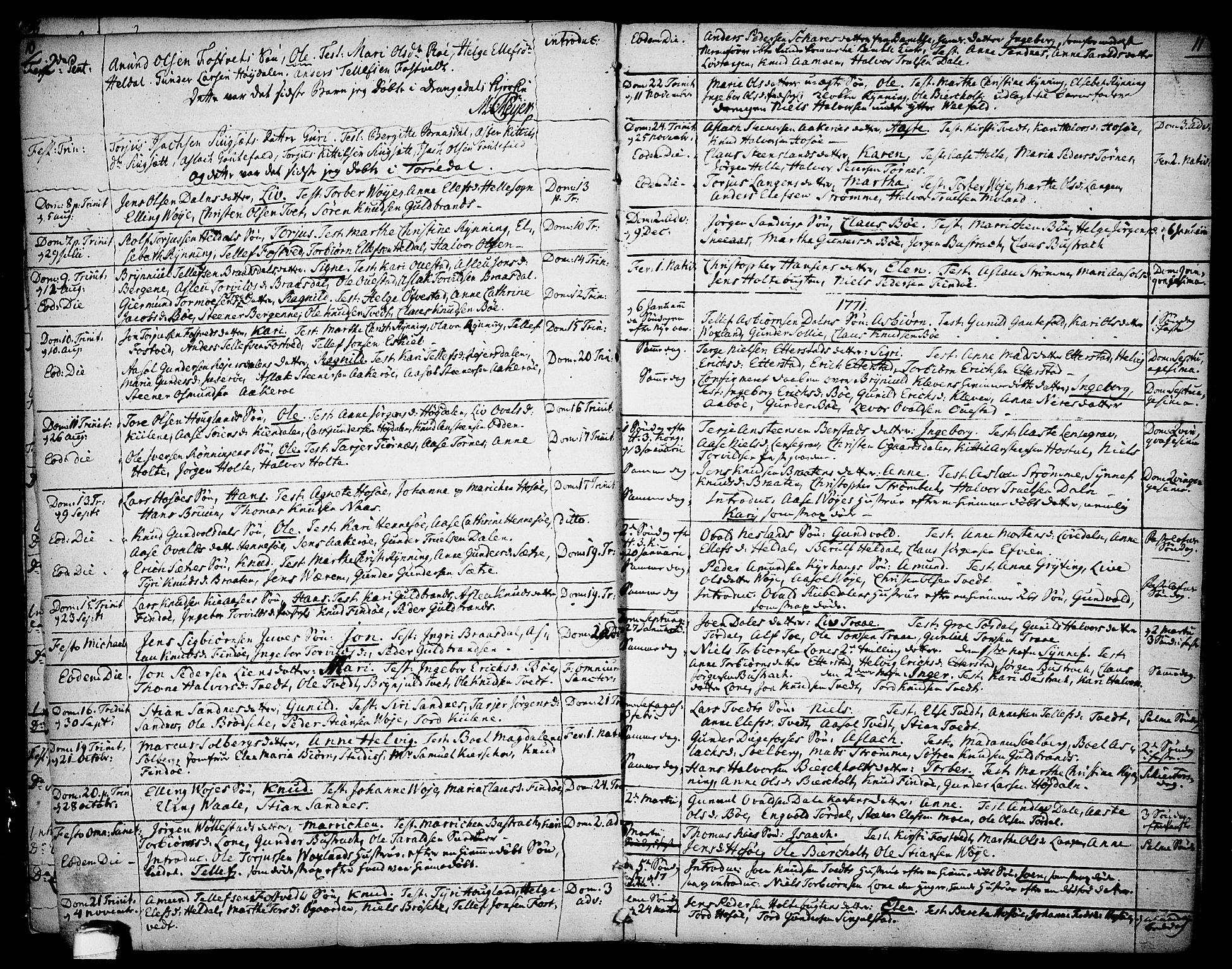 SAKO, Drangedal kirkebøker, F/Fa/L0003: Ministerialbok nr. 3, 1768-1814, s. 10-11