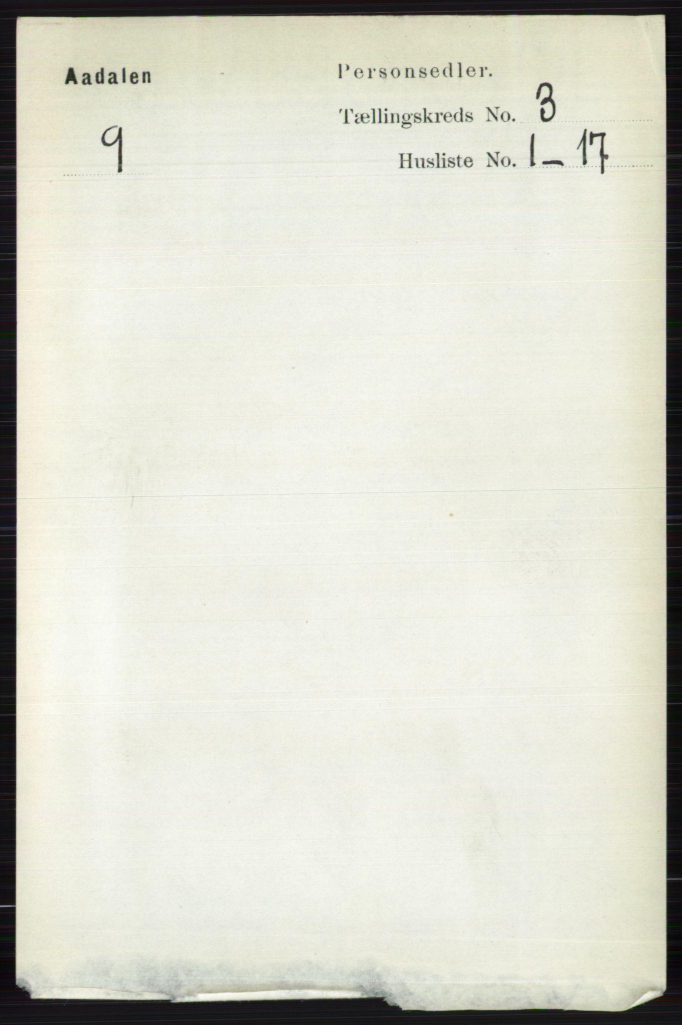 RA, Folketelling 1891 for 0614 Ådal herred, 1891, s. 1027