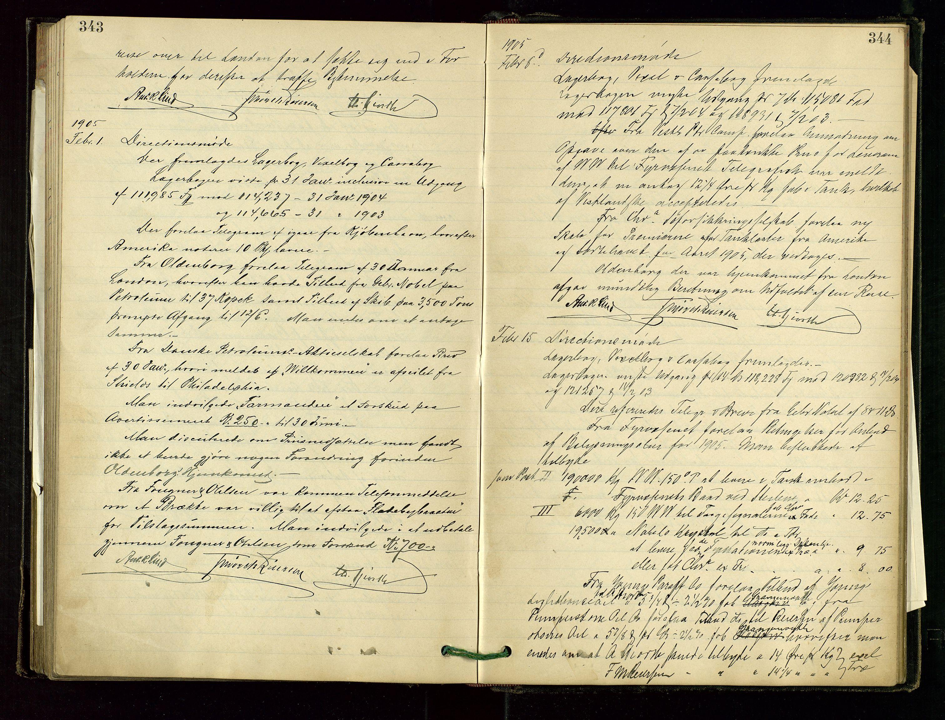 SAST, PA 1534 - Østlandske Petroleumscompagni A/S, A/Aa/L0001: Generalforsamlinger og direksjonsprotokoller., 1892-1905, s. 343-344