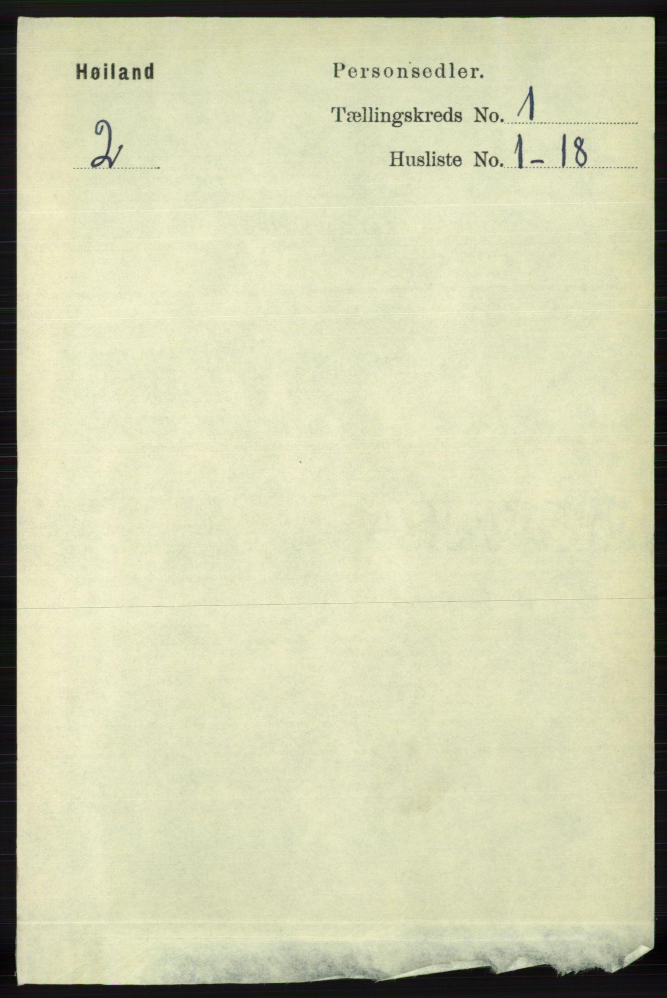 RA, Folketelling 1891 for 1123 Høyland herred, 1891, s. 63