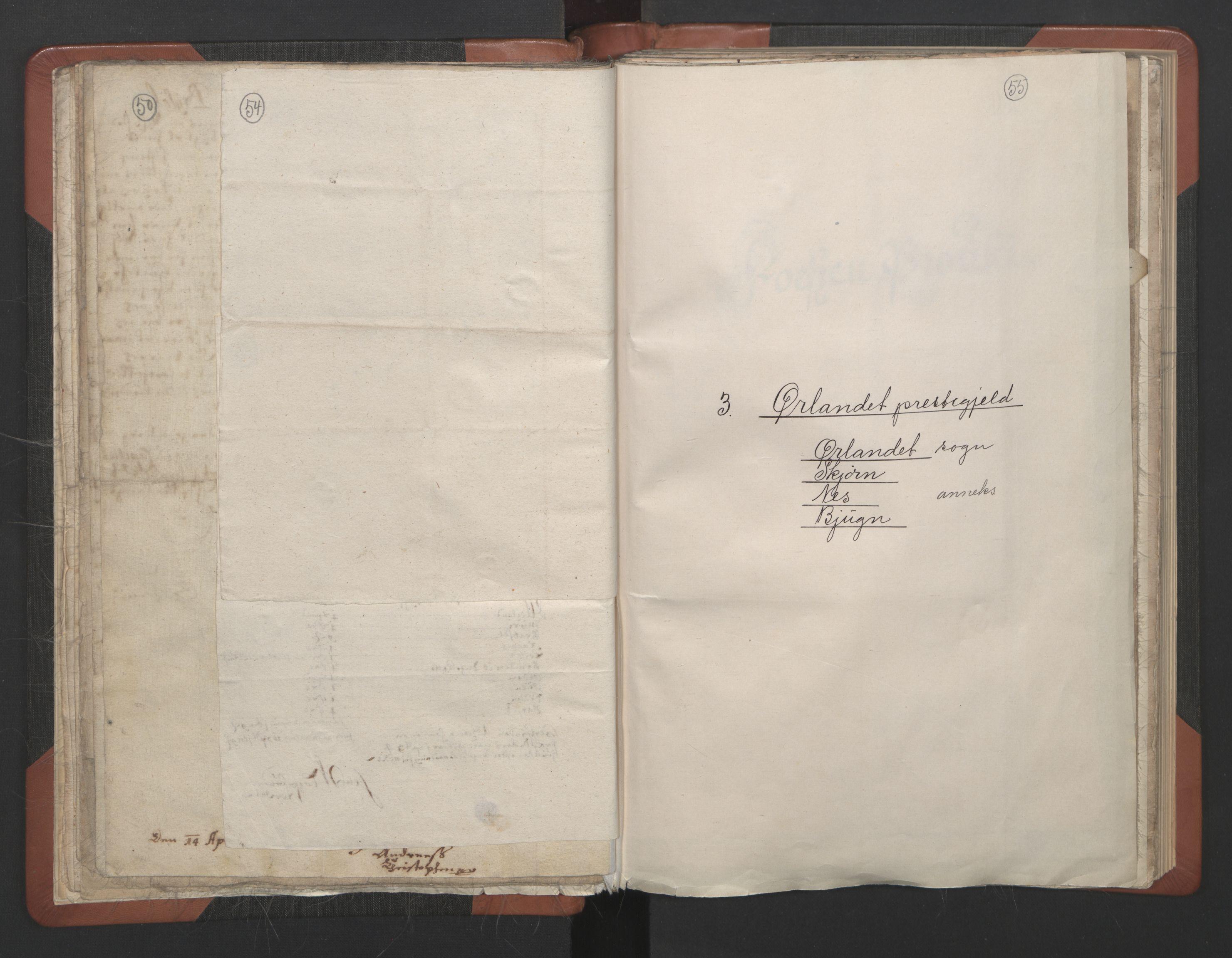 RA, Sogneprestenes manntall 1664-1666, nr. 30: Fosen prosti, 1664-1666, s. 54-55